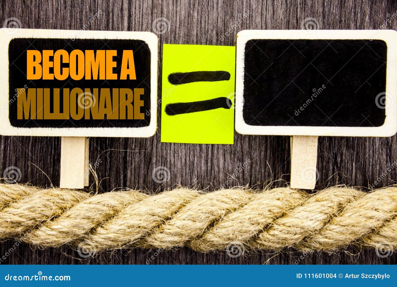 L apparence de Ttext vont bien à un millionnaire Le concept d affaires pour que l ambition devienne riche gagnent chanceux de for