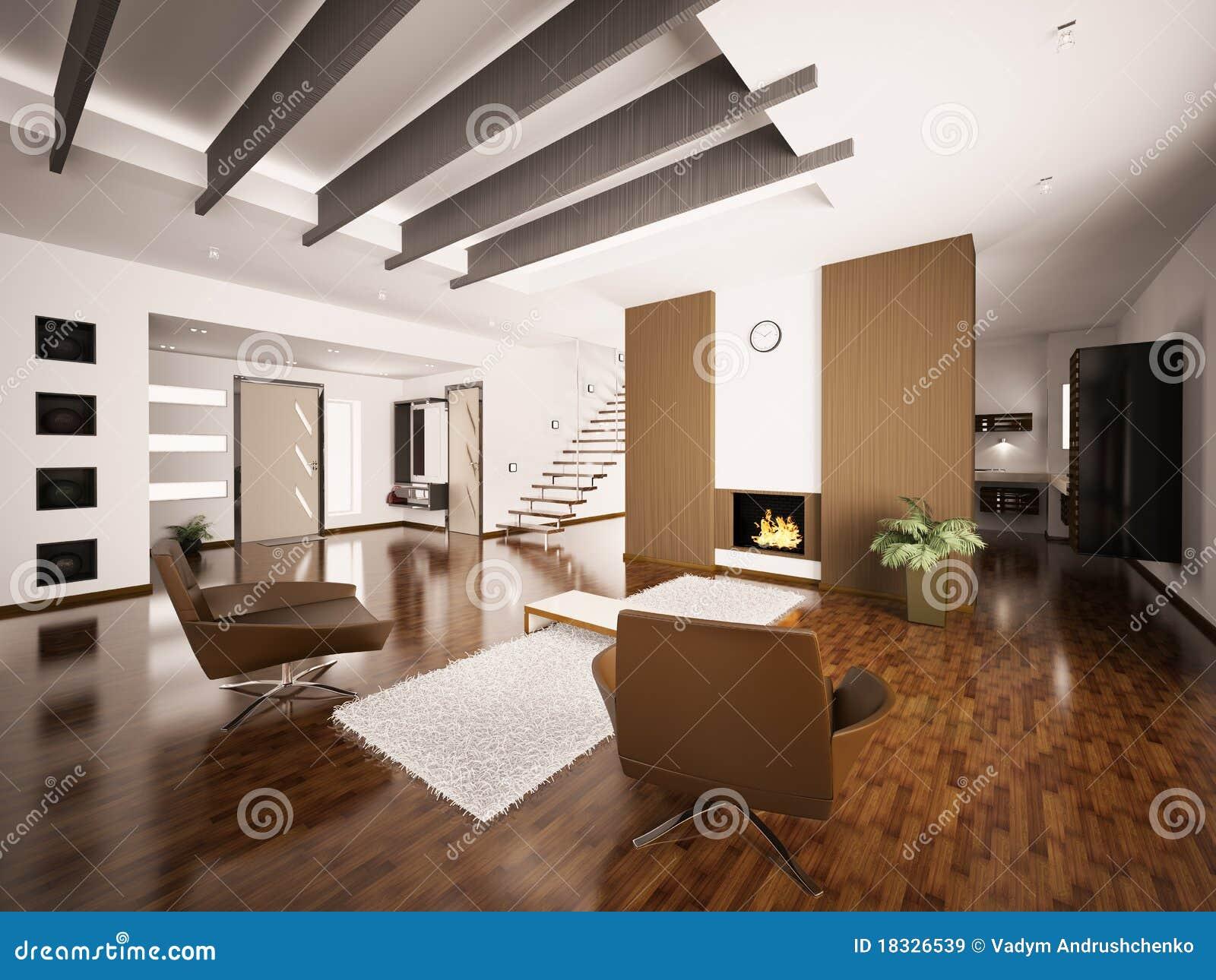 L 39 appartamento moderno 3d interno rende immagini stock for Immagini di appartamenti moderni