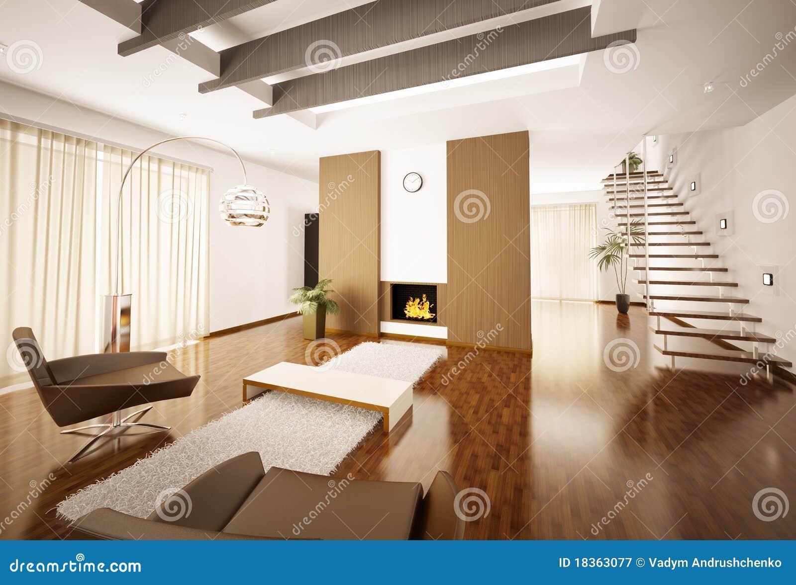 L 39 appartamento moderno 3d interno rende fotografia stock for Appartamento moderno