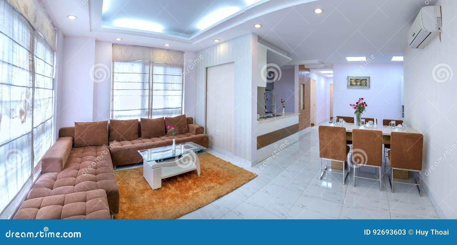 Ho Chi Minh City, Vietnam   5 Mai 2017 : Lu0027appartement Moderne De Style  Combine Le Salon, Salle à Manger, Le Grand Espace, Rêve Intérieur  Confortable, ...