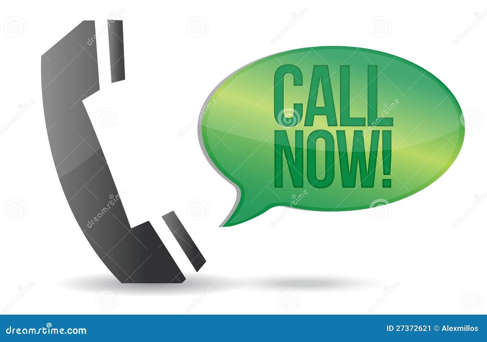 L appel téléphonent maintenant la conception d illustration de signe