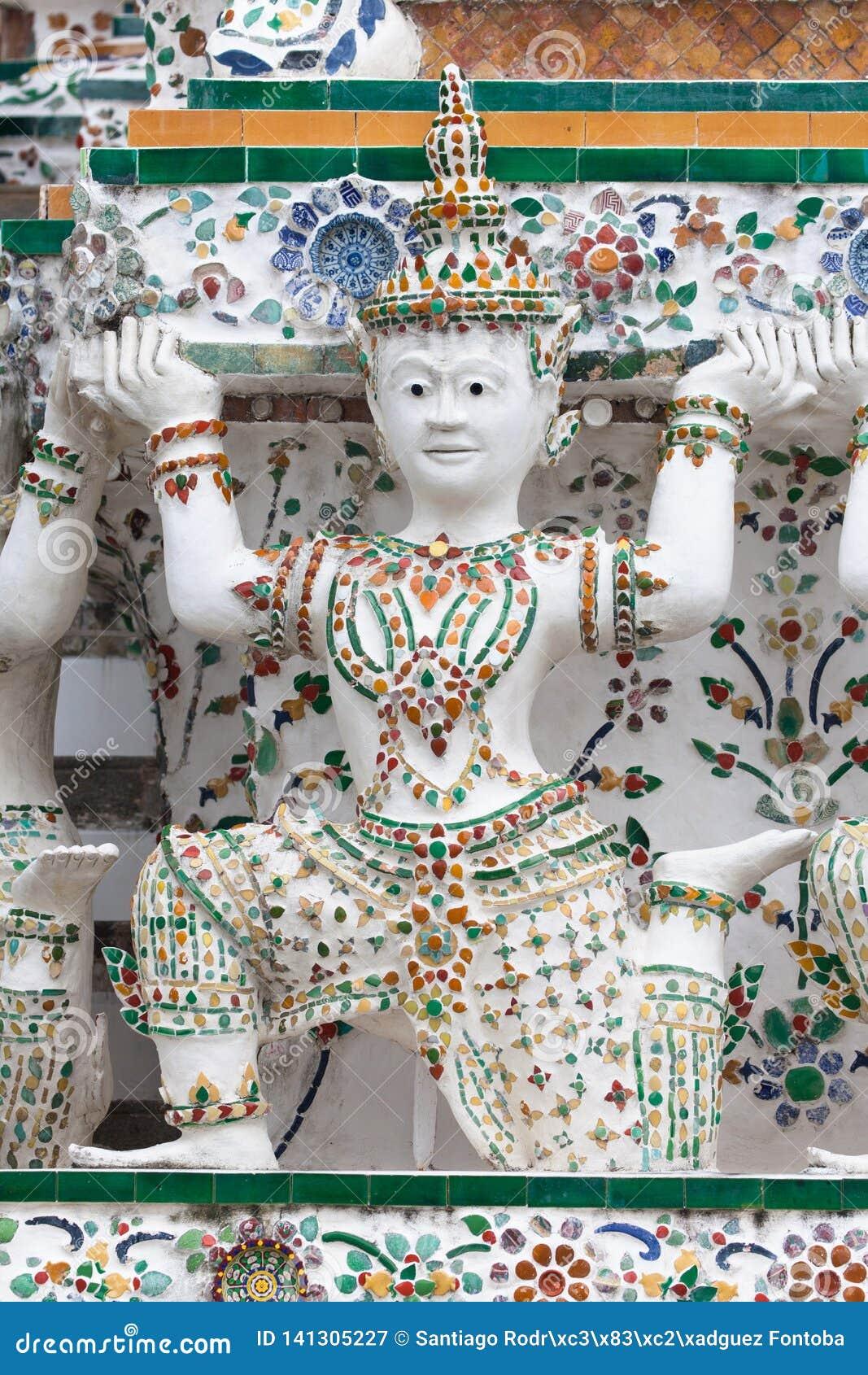 L appoggio della cariatide bombarda a Wat Arun