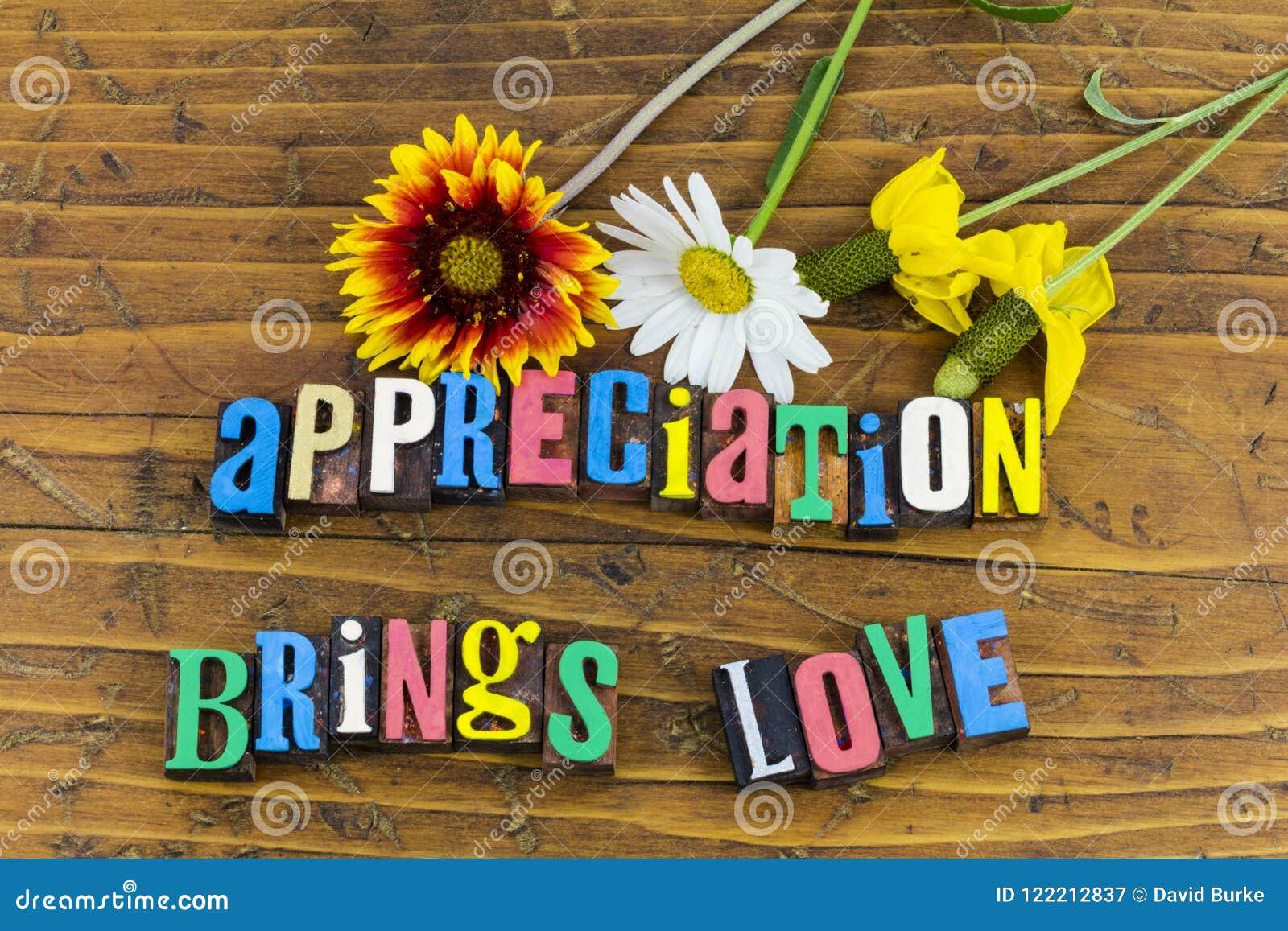 L appréciation apporte des fleurs d amour