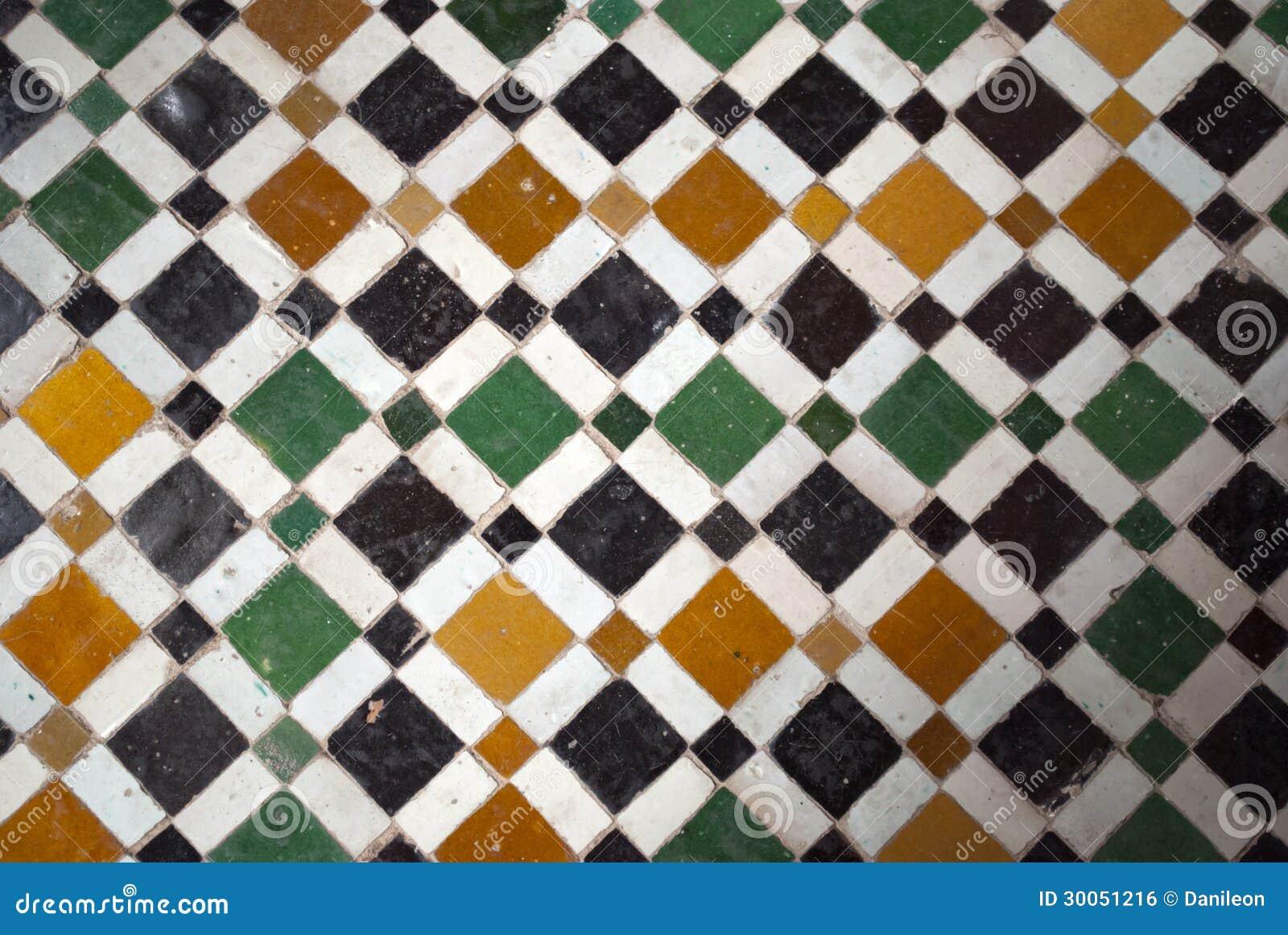 Arabesque variopinte tipiche del marocco marrakesh vecchie