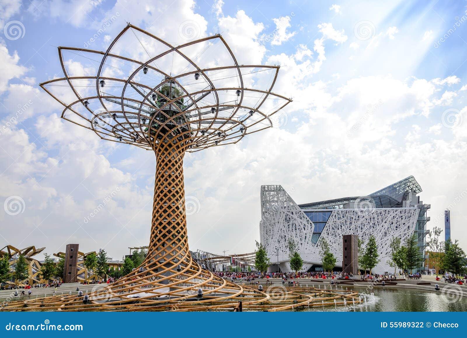 Expo Milan Les Stands : L arbre de la vie et le pavillon italien à expo