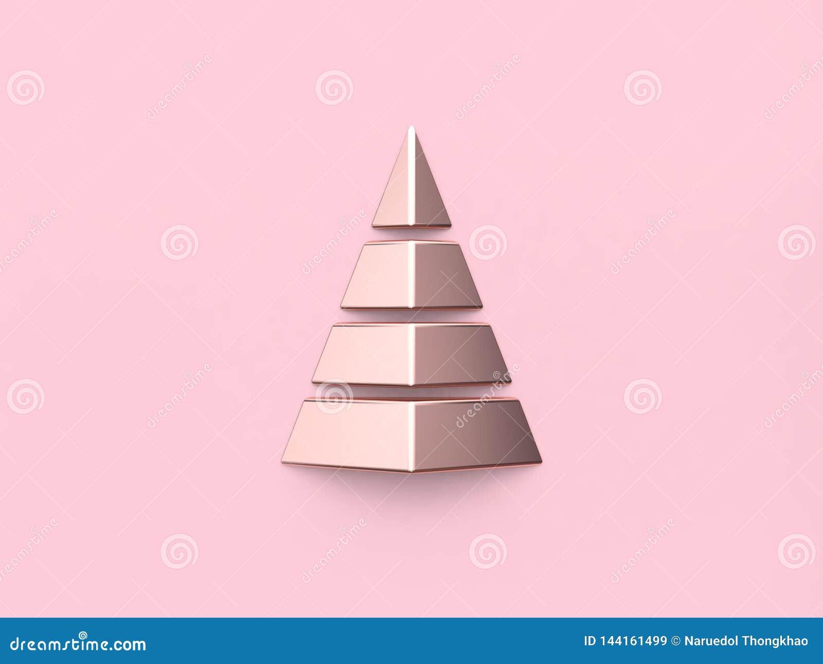 L arbre de Noël brillant rose métallique d abrégé sur réflexion 3d rendent
