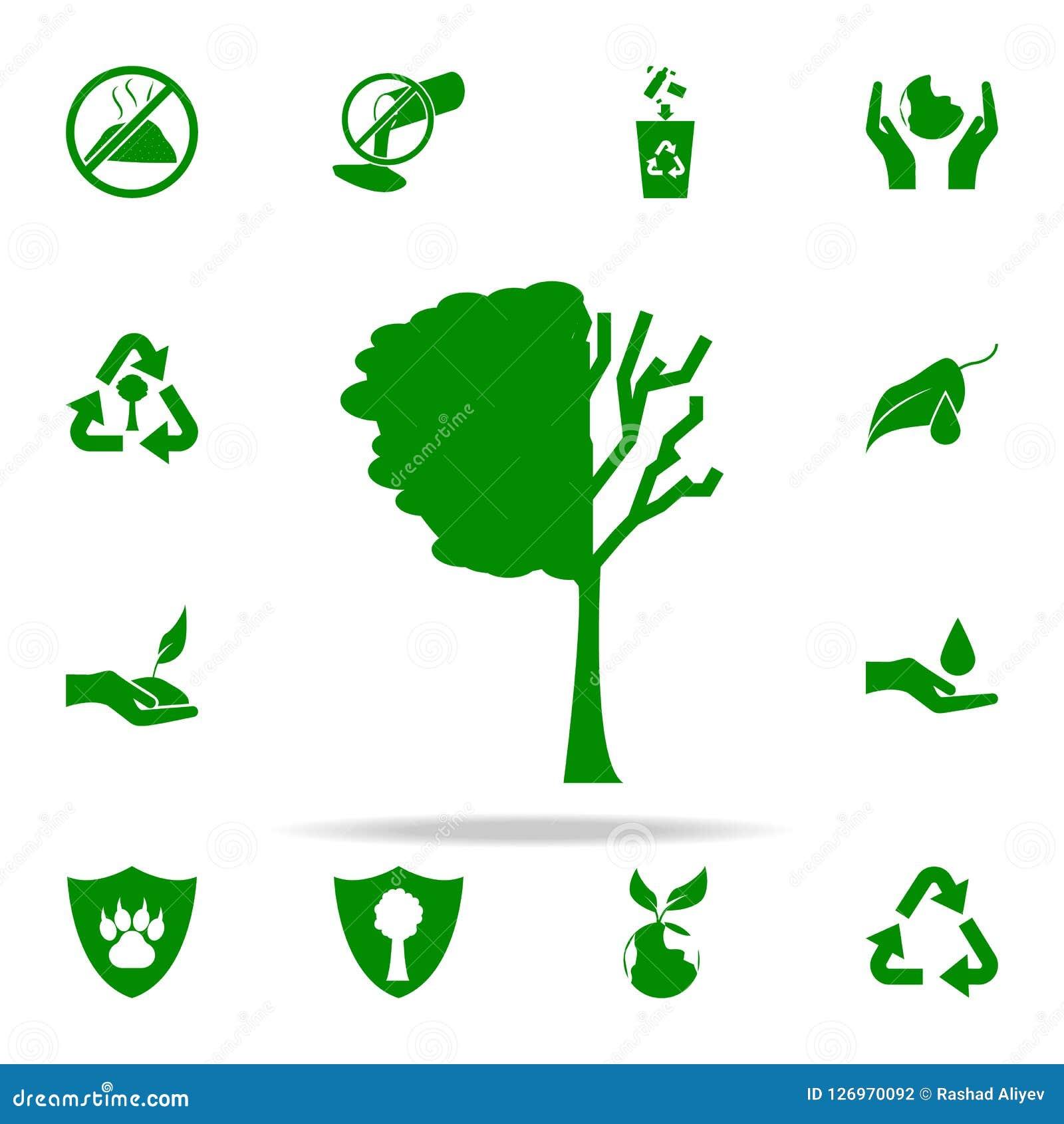 L arbre perdu part de l icône verte ensemble universel d icônes de Greenpeace pour le Web et le mobile