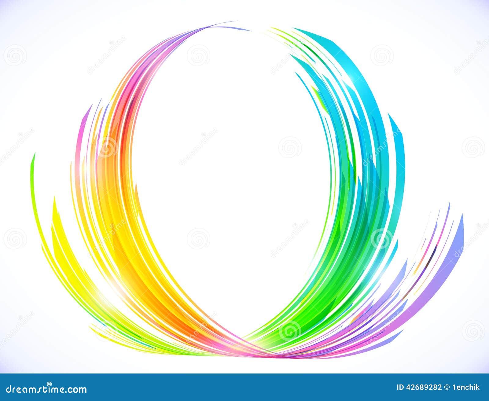 l 39 arc en ciel colore le symbole abstrait de fleur de lotus illustration de vecteur image 42689282. Black Bedroom Furniture Sets. Home Design Ideas
