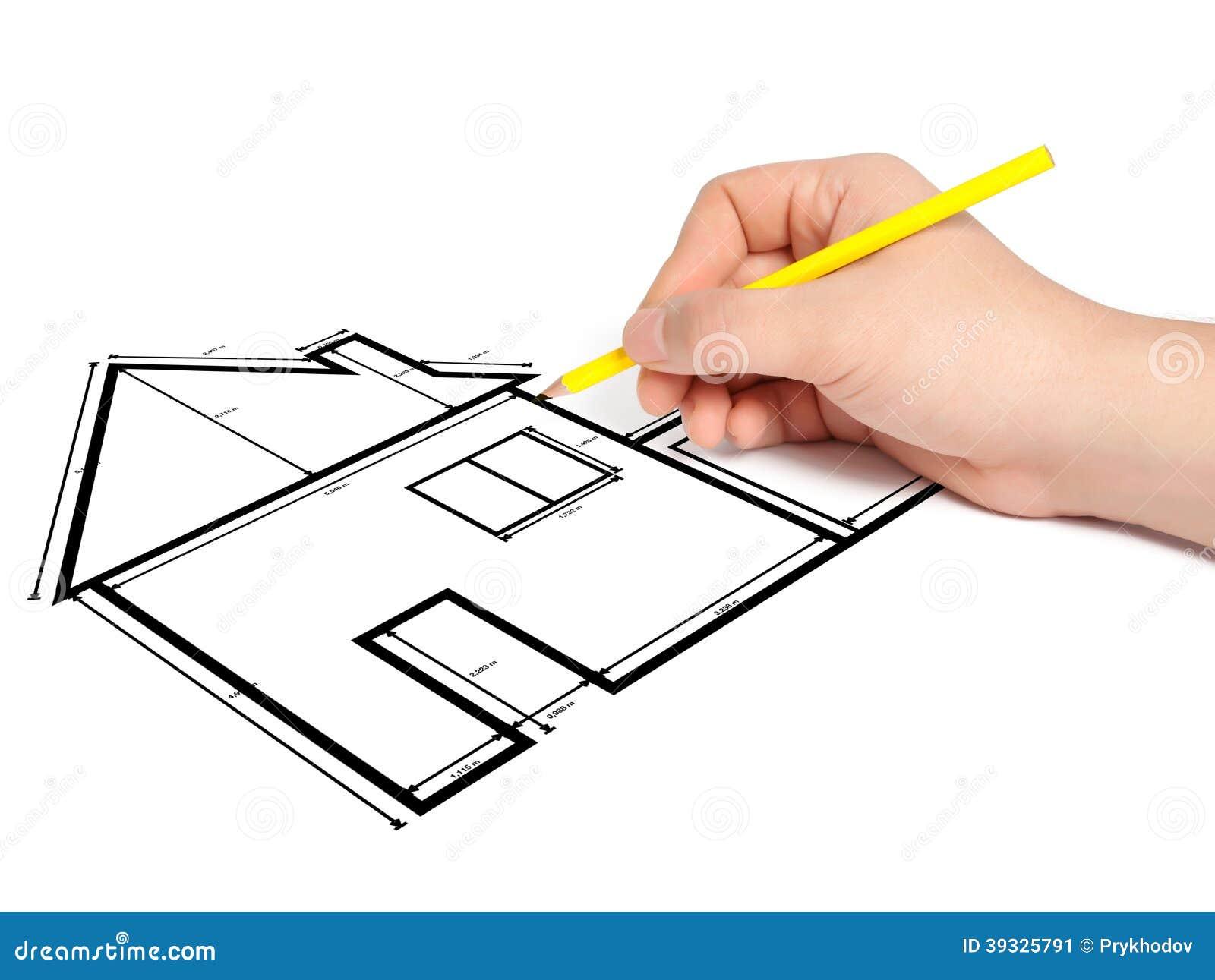 L 39 architecte dessine un projet de maison de dessin for Dessin architecte maison