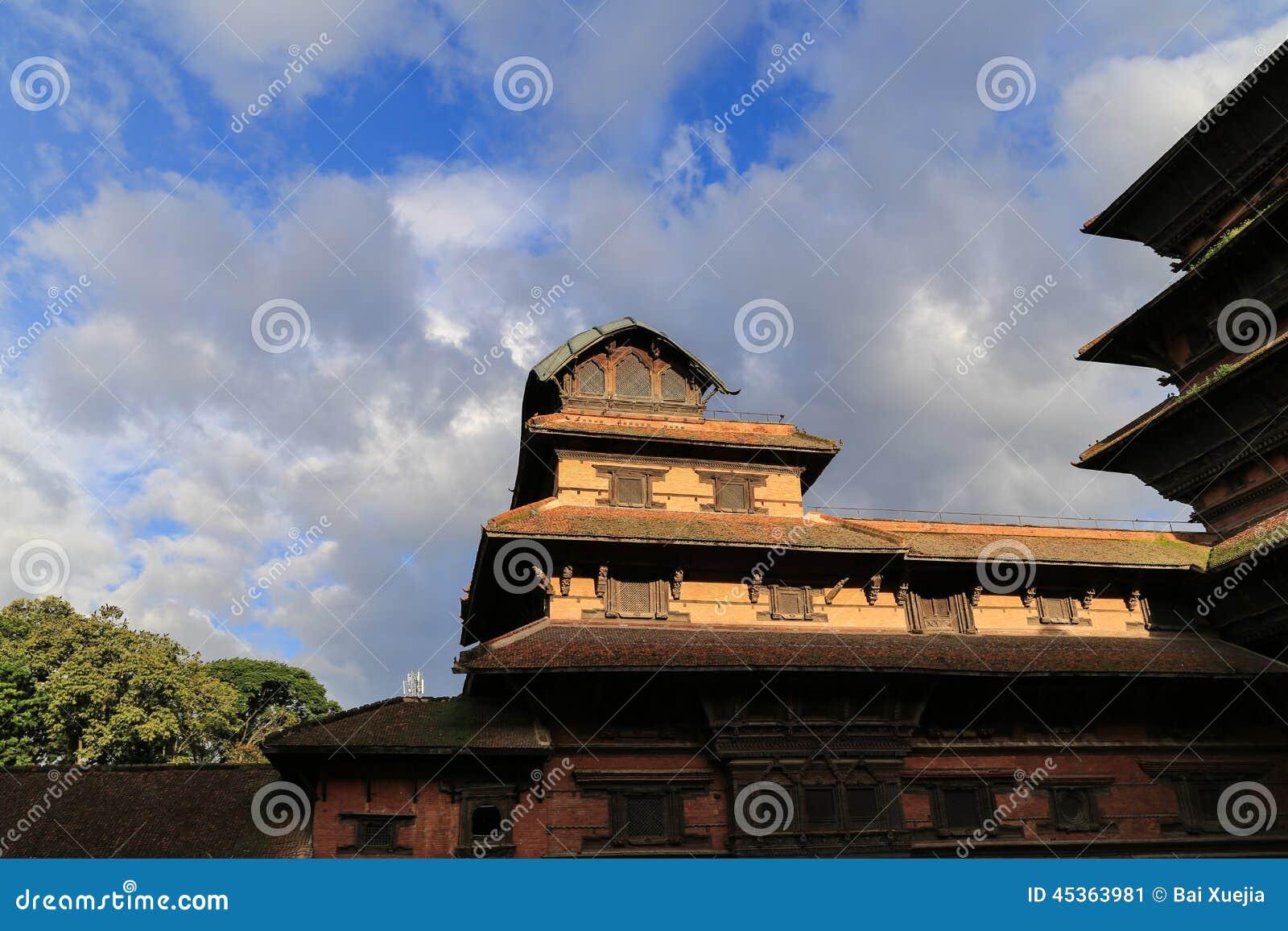 L architecture dans la place durbar de Katmandou au Népal