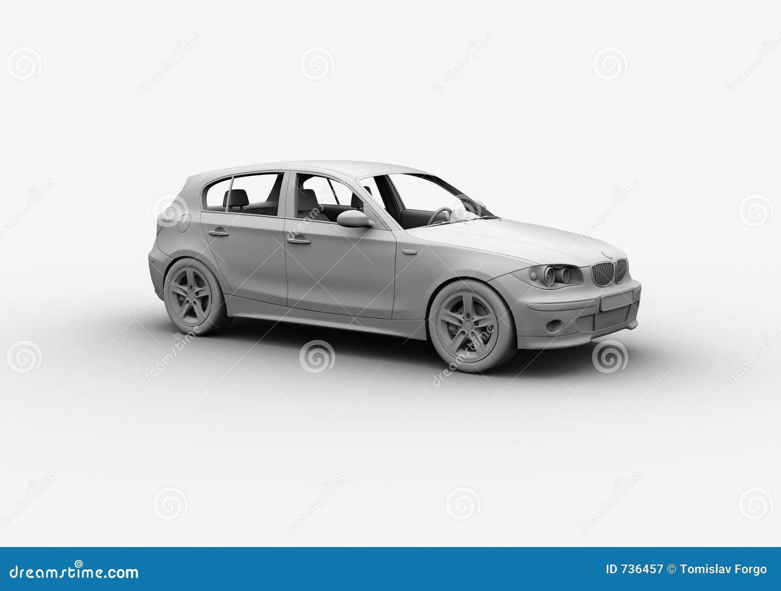 L argile 3D de véhicule rendent