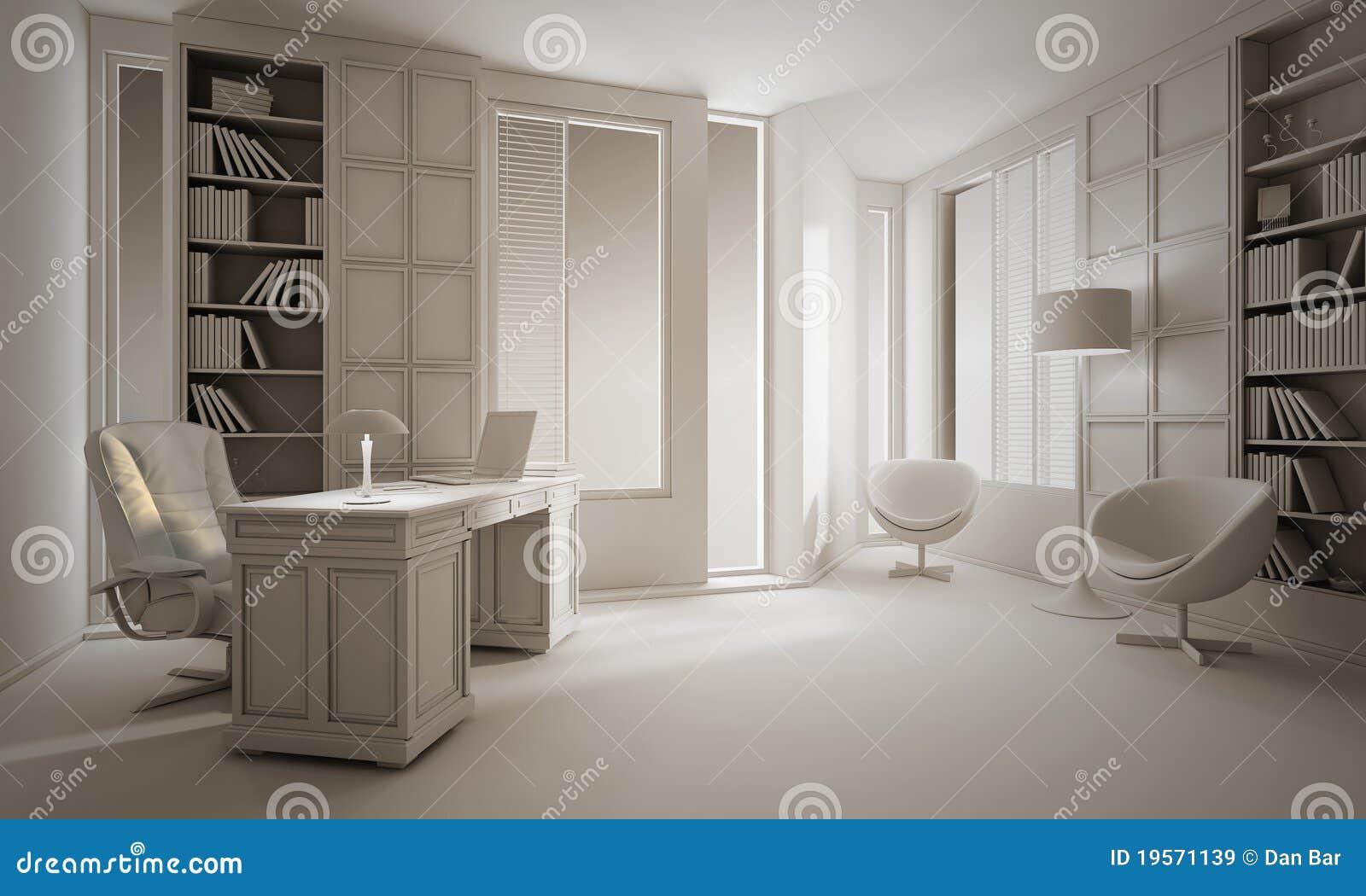 L argile d rendent d une conception intérieure de bureau de luxe