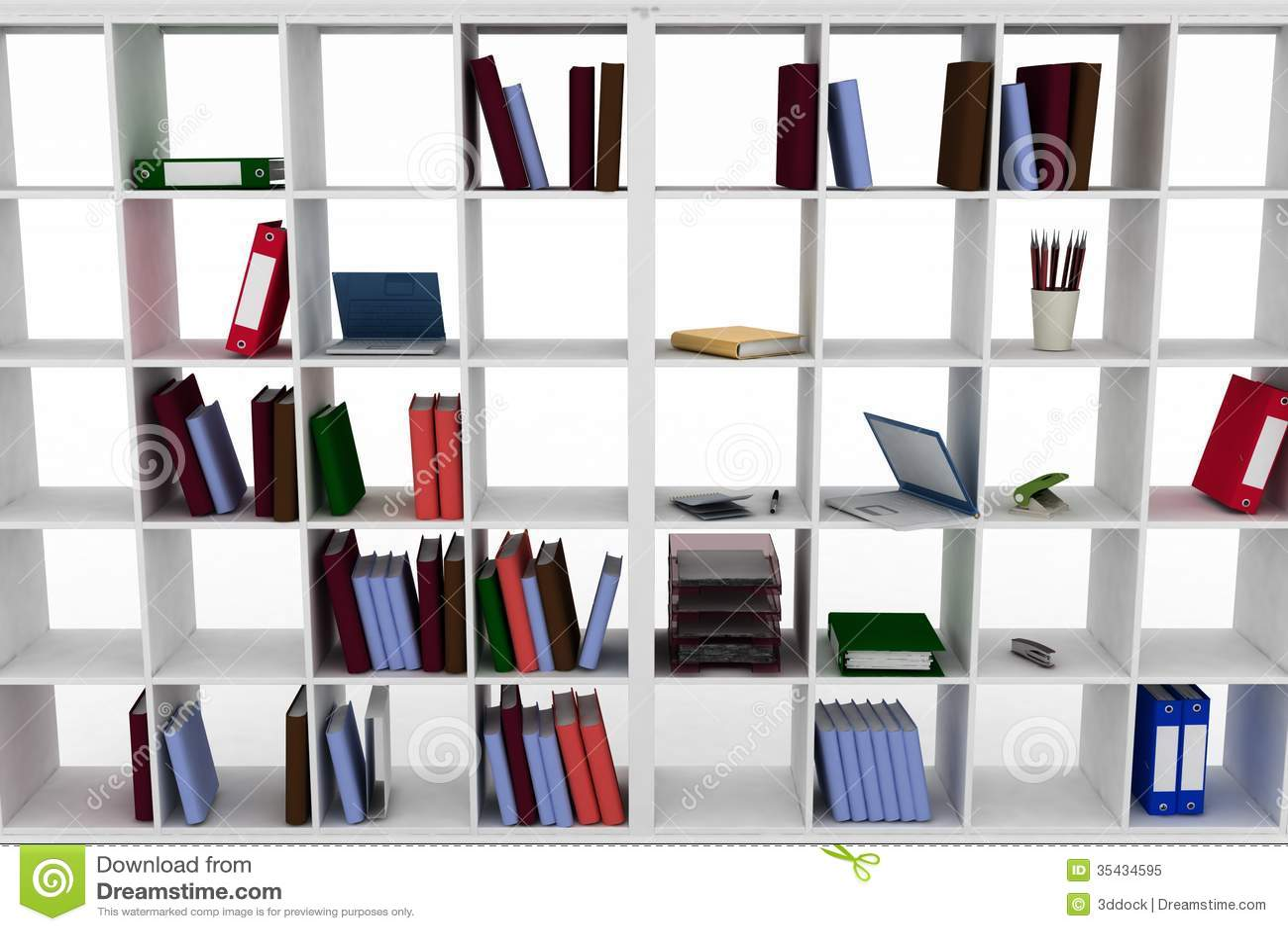 L 39 armadietto semplice con l 39 ufficio obietta sugli scaffali illustrazione di stock - Scaffali ufficio ikea ...