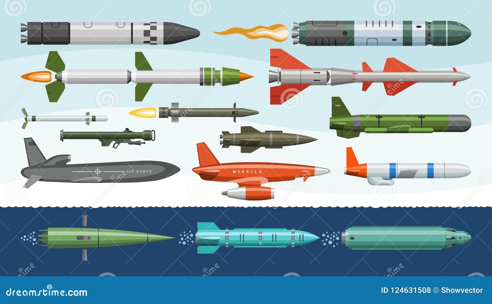 L arme militaire de fusée de missilery de vecteur de missile et l illustration ballistique de bombe nucléaire ont militairement p