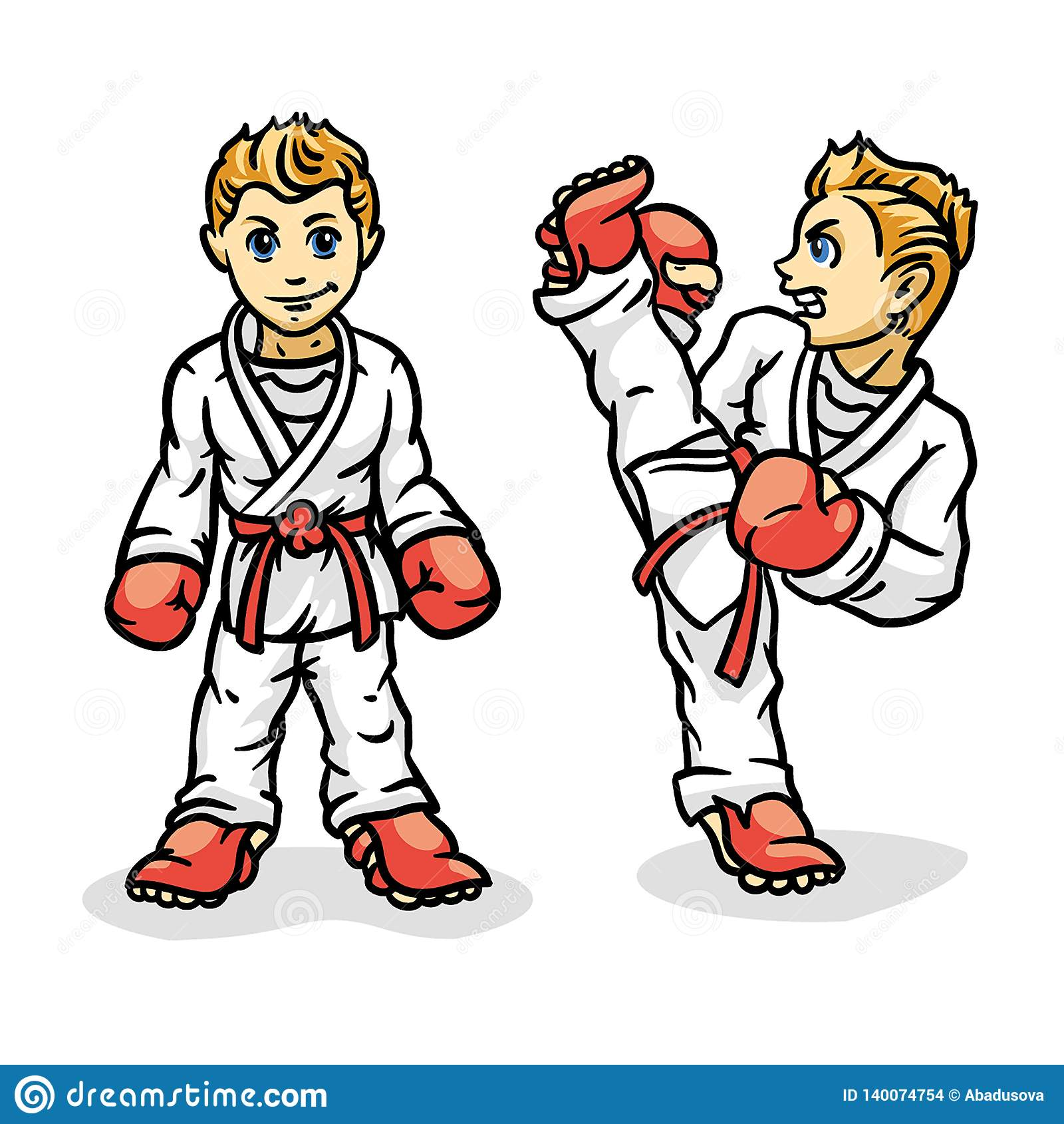 L art martial a coloré le simbol, logo Emblème créatif de conception de karaté Karate Kid