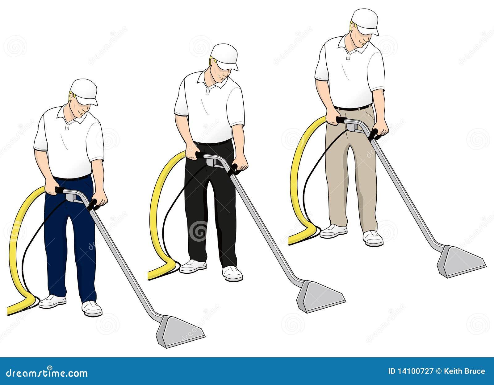 L arte di clip di tecnologia di pulizia della moquette ha impostato 4