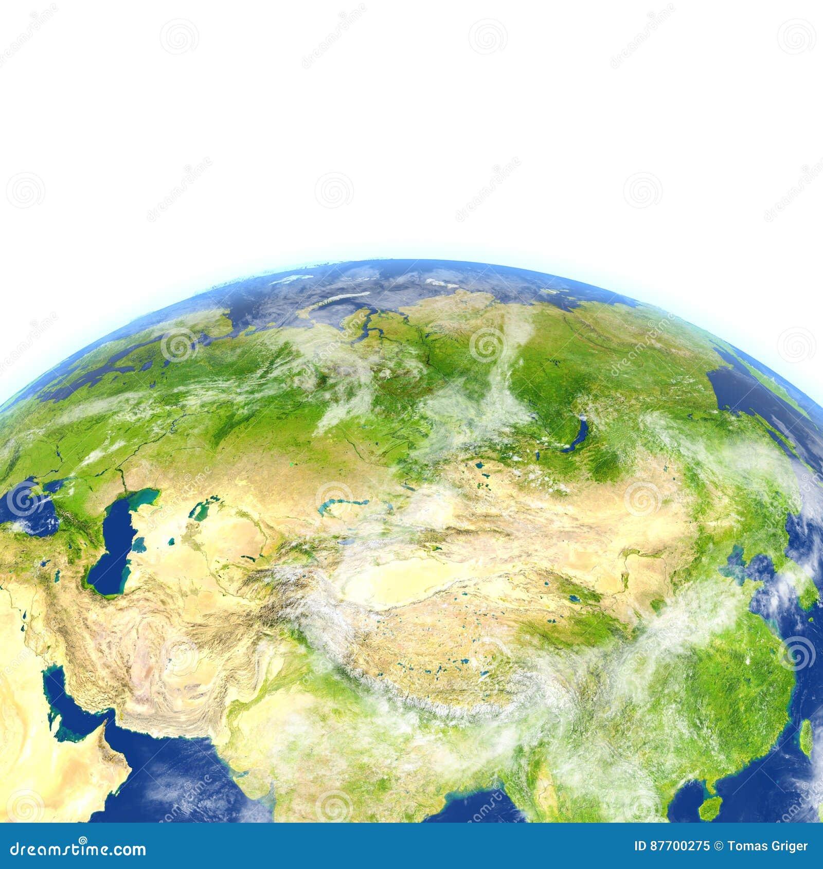 L Asie centrale sur terre de planète