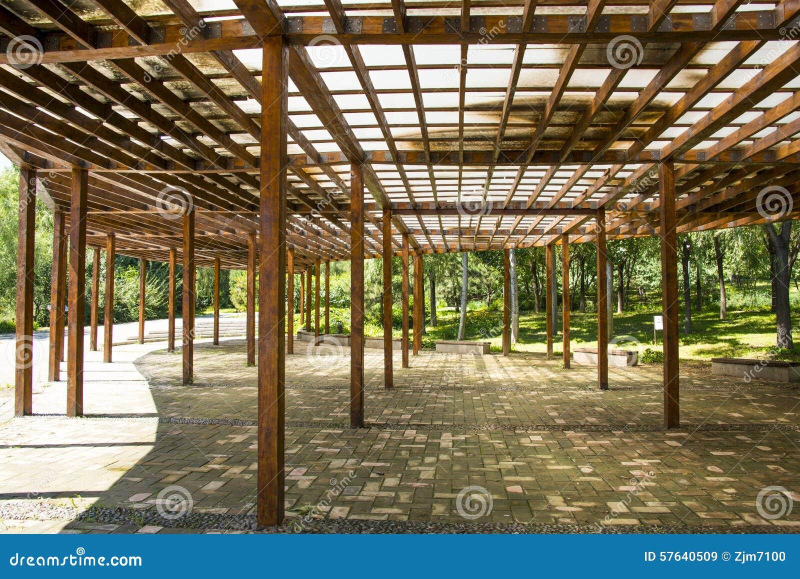 L 39 asie chine p kin forest park olympique architecture for Pavillon en bois pour jardin