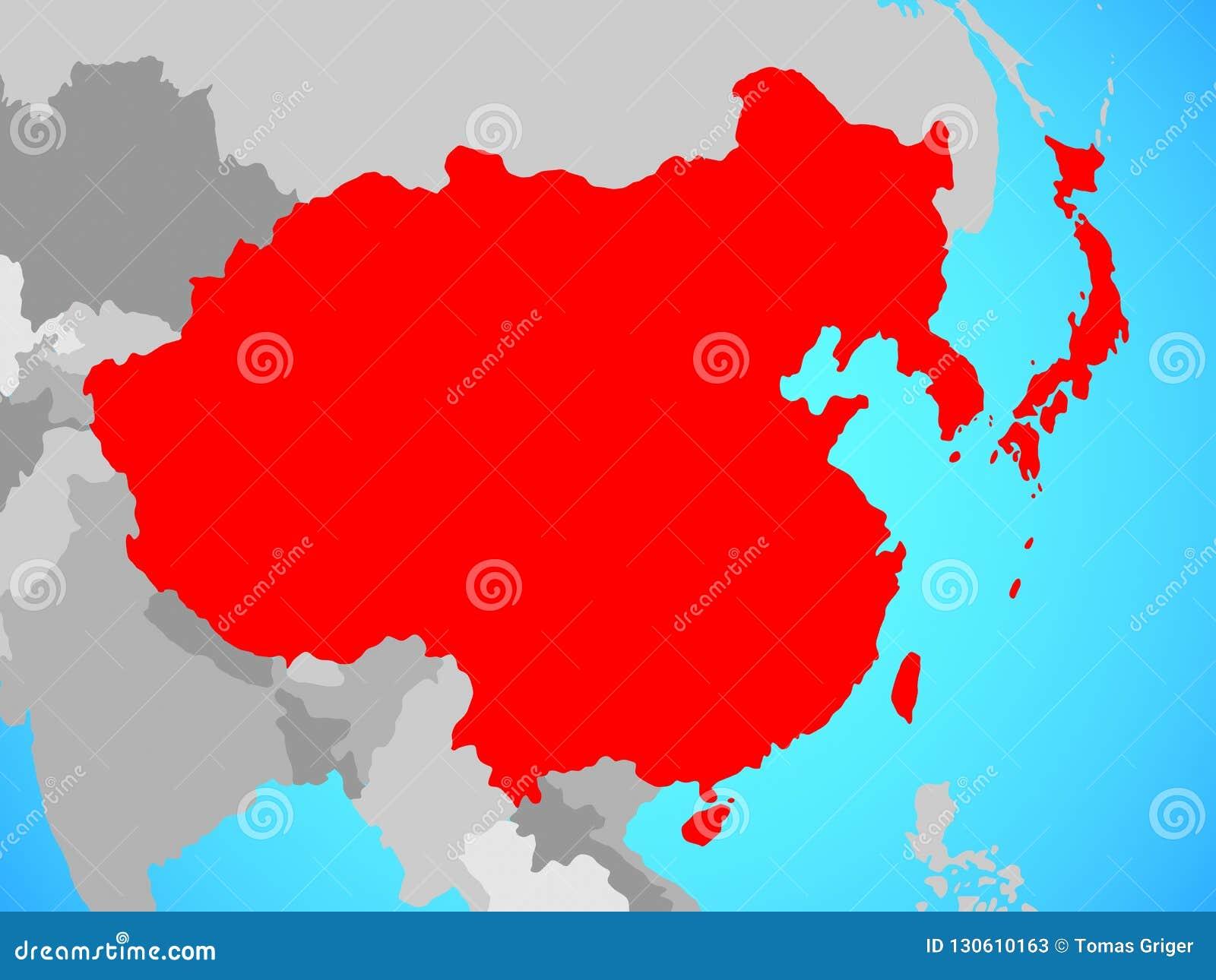 L Asie de l Est sur la carte
