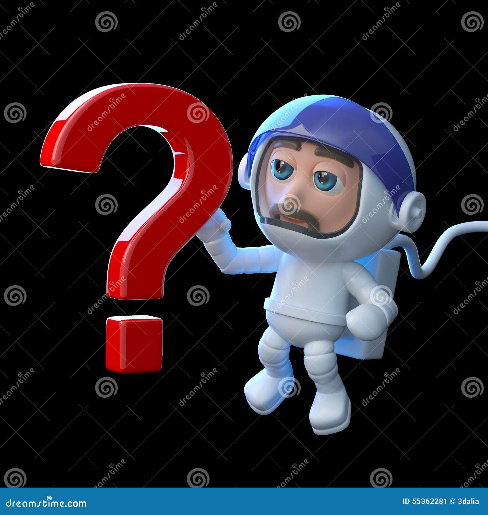 L astronauta 3d ha una domanda