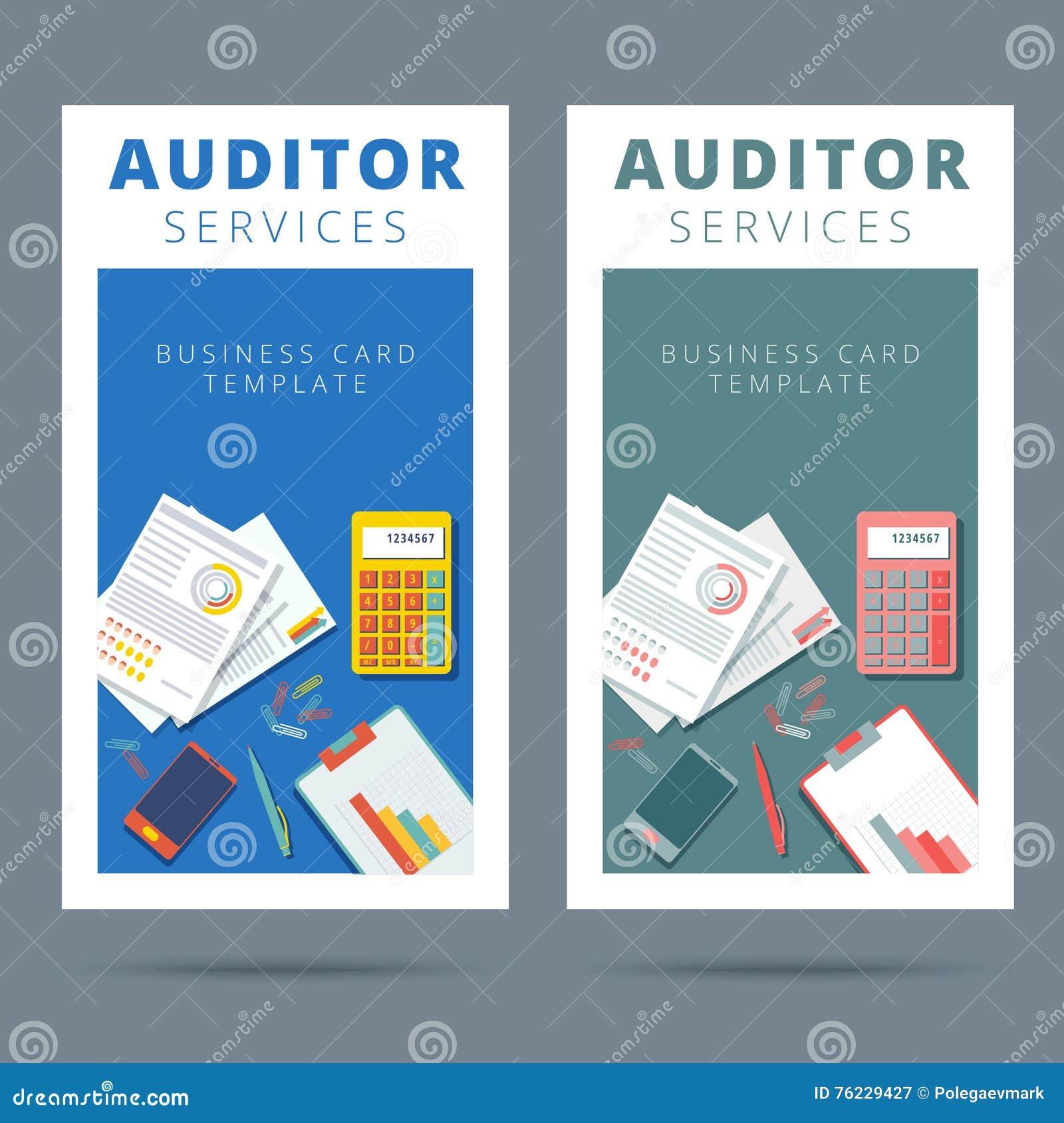 L Audit Et Analyse Financiere Dirigent Le Concept De Carte Visite Professionnelle