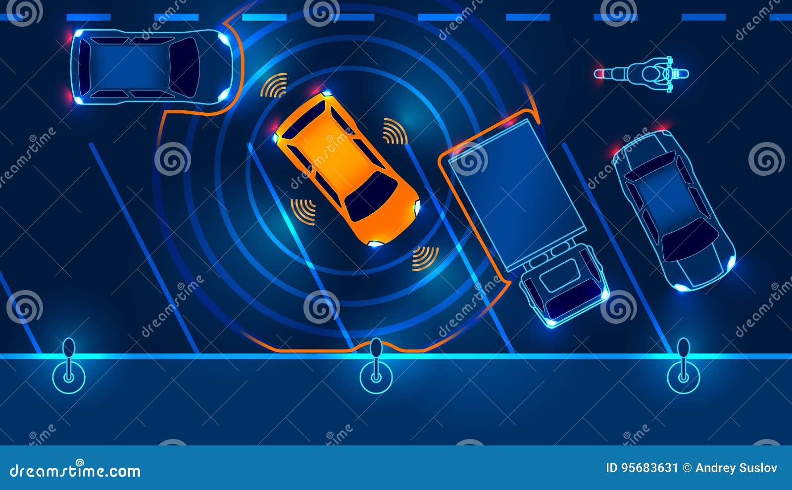 L automobile astuta è parcheggiata automaticamente