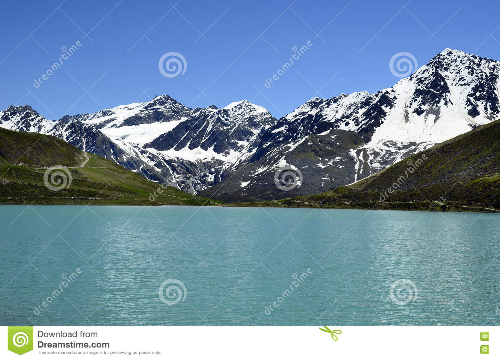 L Autriche, Tyrol, lac Rifflsee