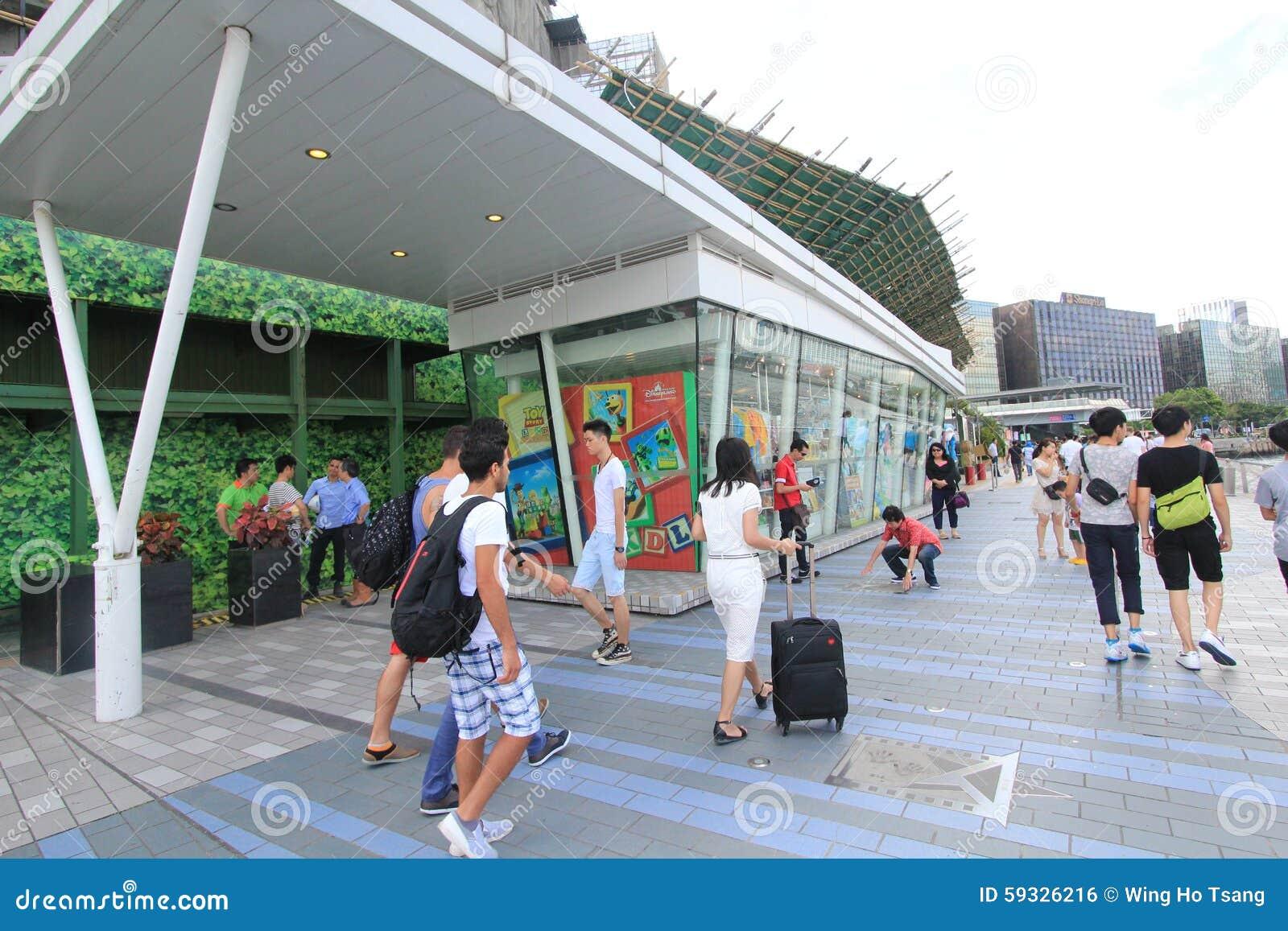 L avenue des étoiles à Hong Kong