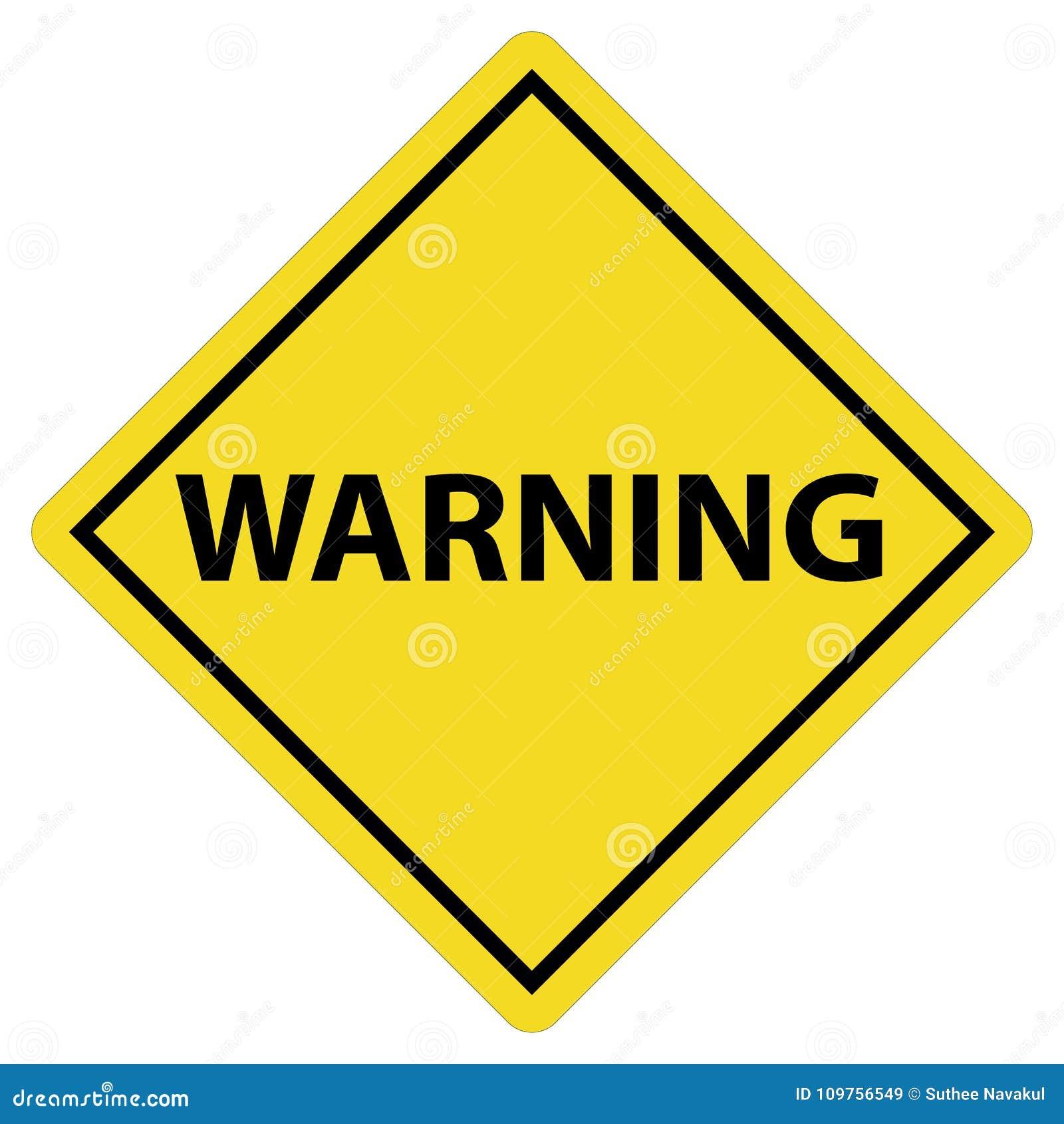 L avertissement se connectent le fond blanc symbole d avertissement