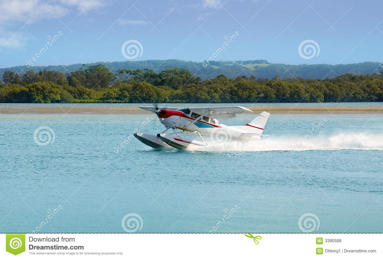 L avion de mer prépare pour décoller