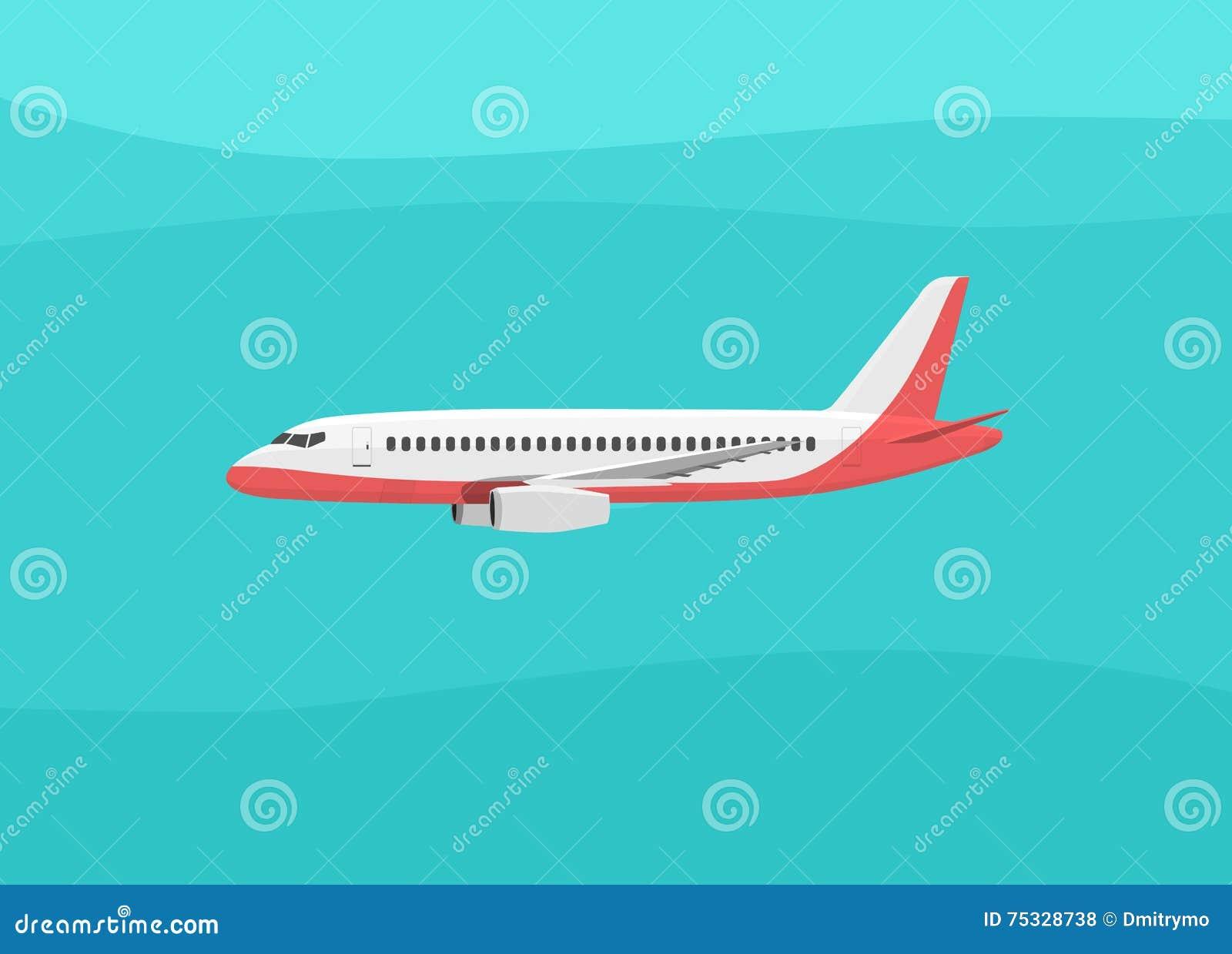 L 39 avion vole dans le ciel vue de c t illustration de - Avion en dessin ...