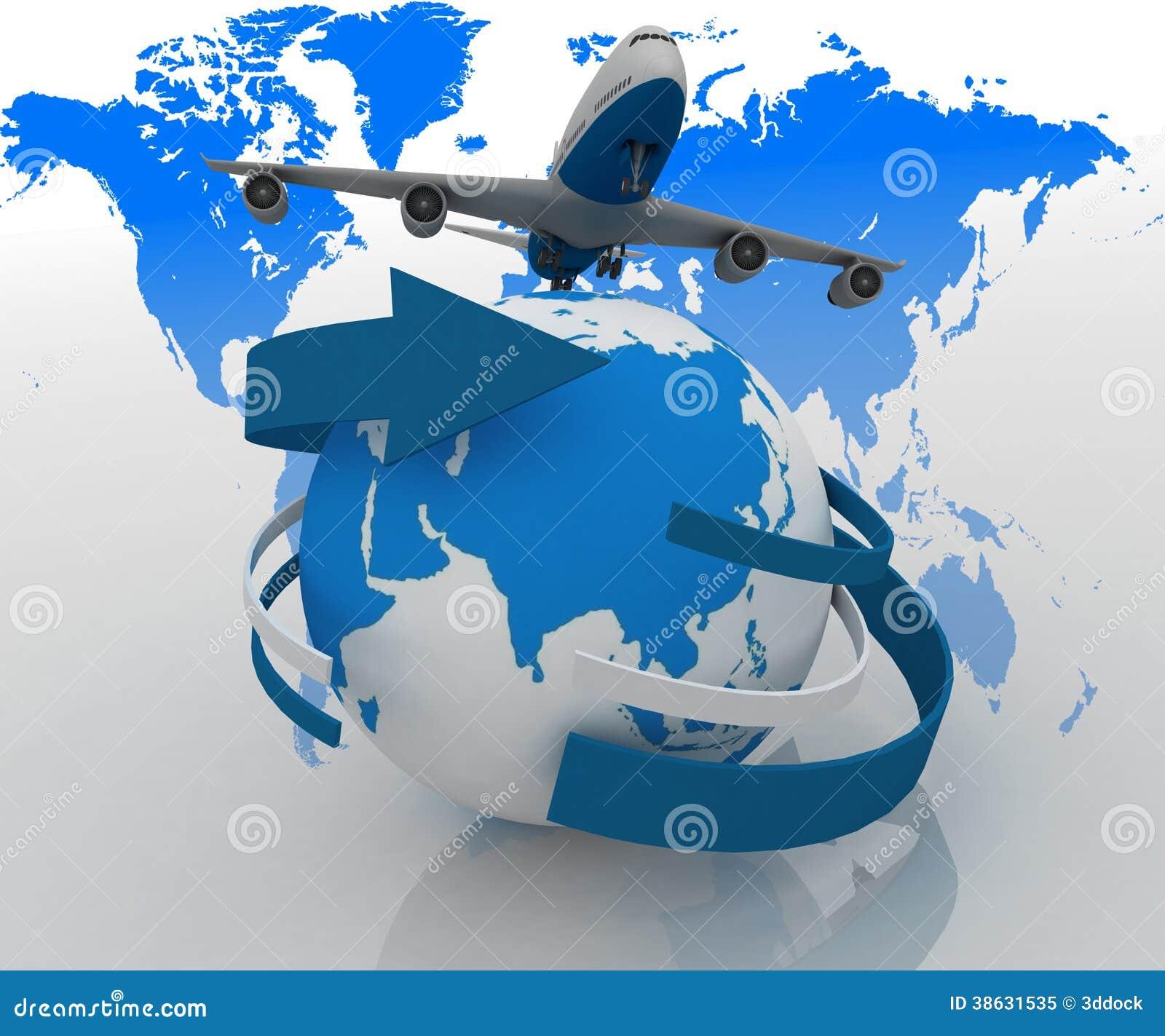 L 39 avion voyage autour du monde illustration stock image - Decoration voyage autour du monde ...