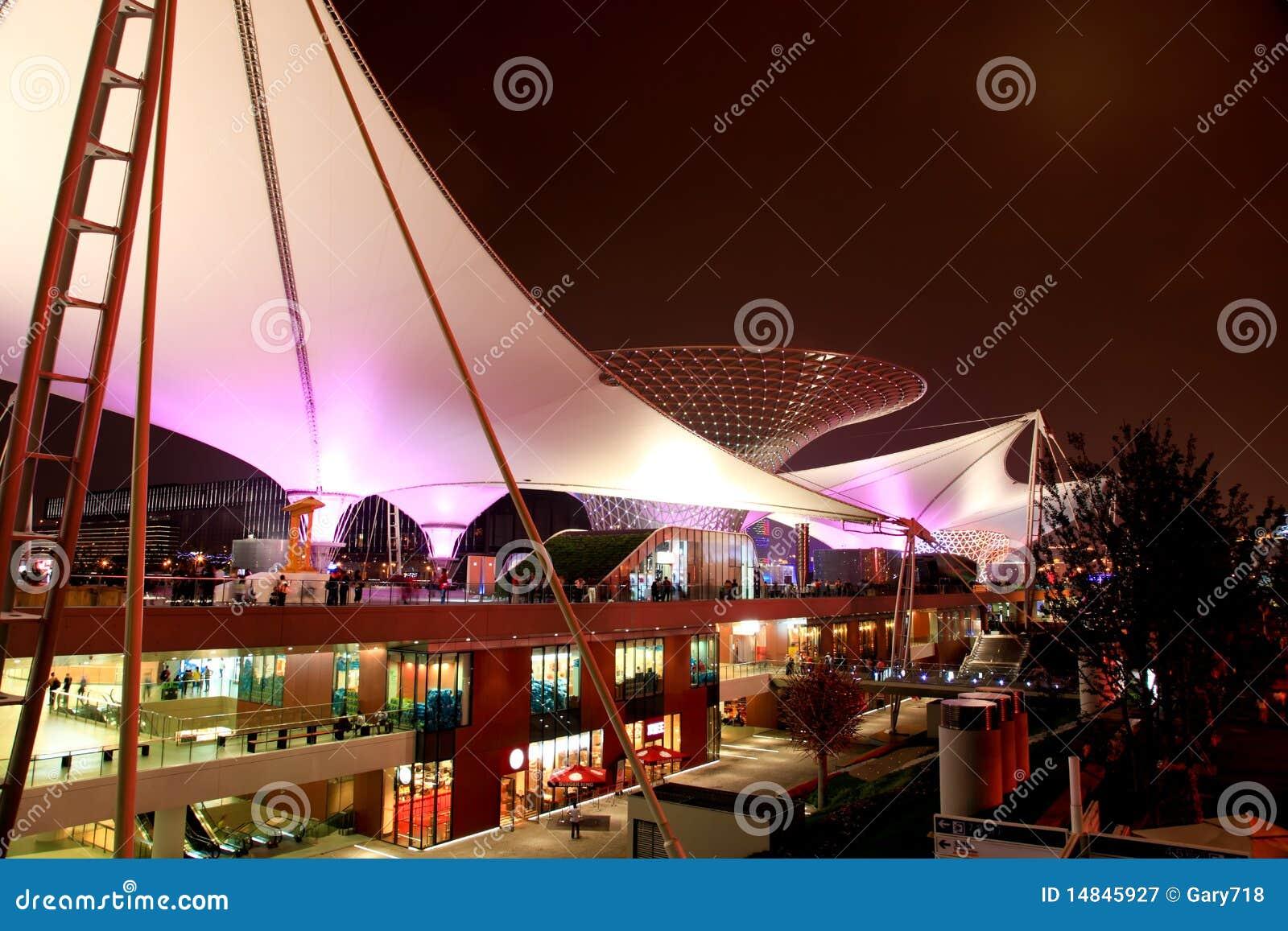 L axe de l expo à l expo du monde à Changhaï