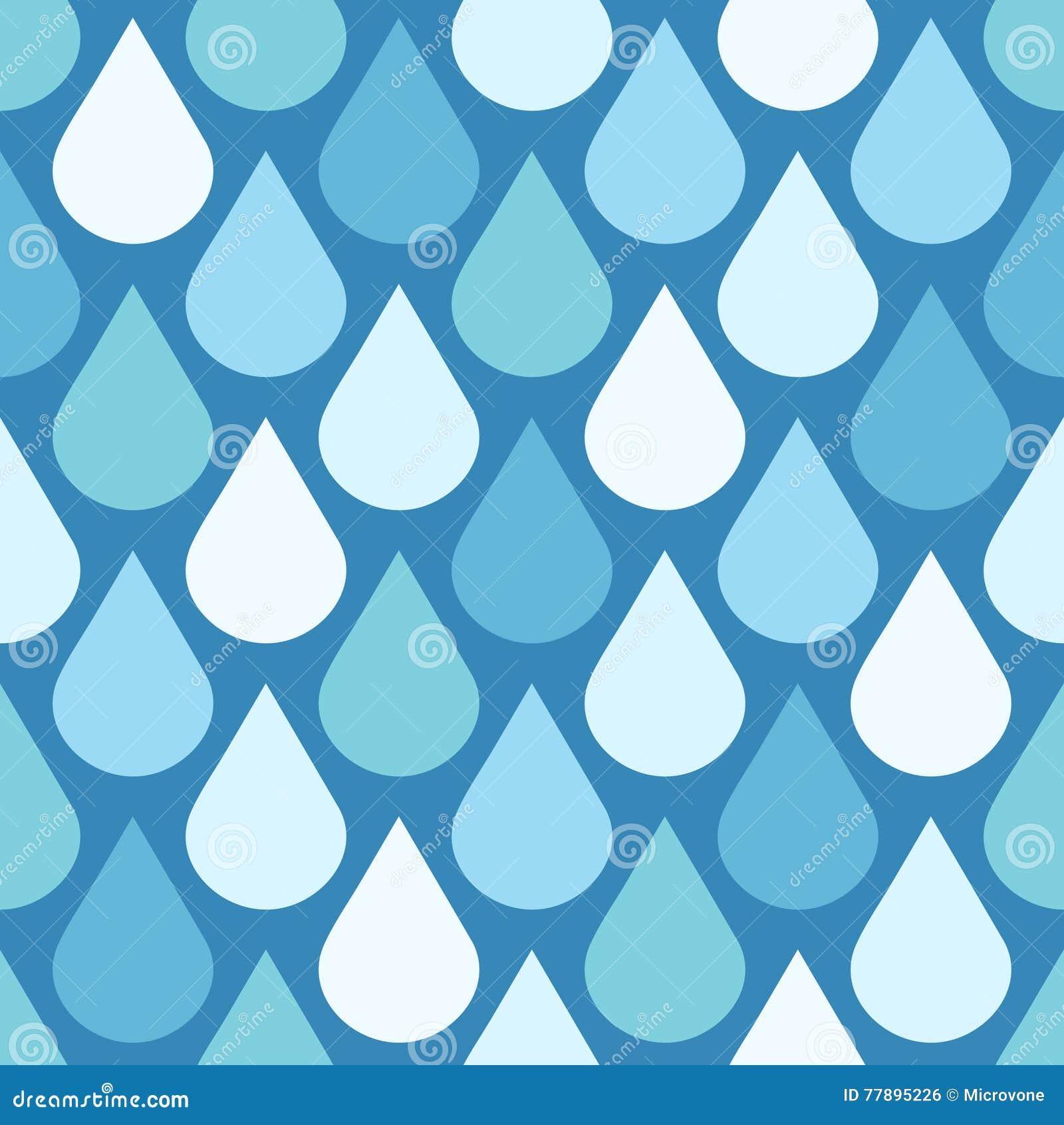 L eau élégante de vecteur laisse tomber le fond sans couture