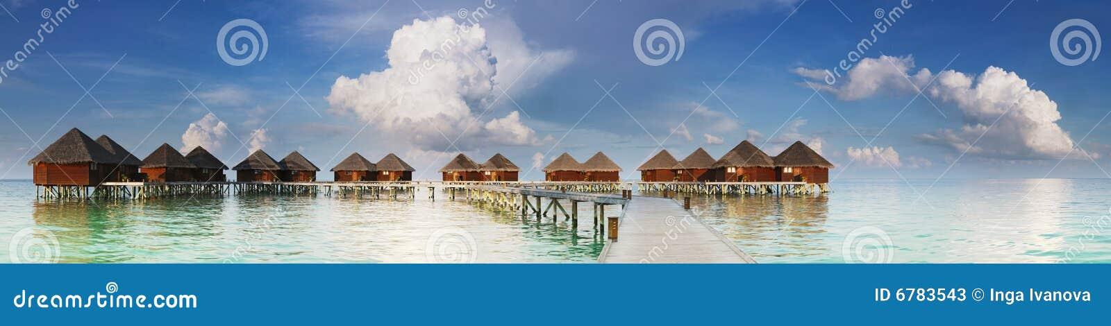 L eau de villas de vue panoramique