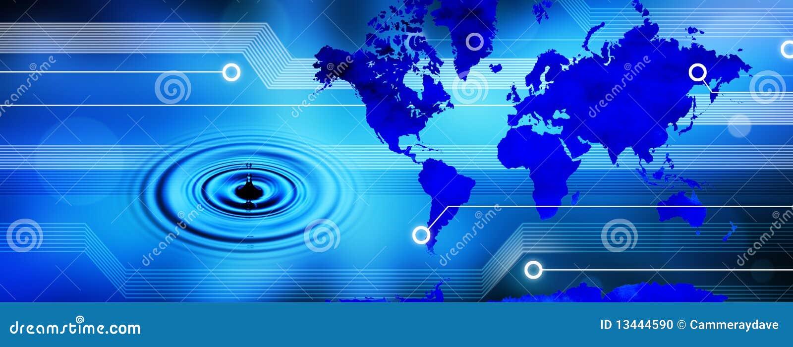 L eau globale de technologie de carte du monde