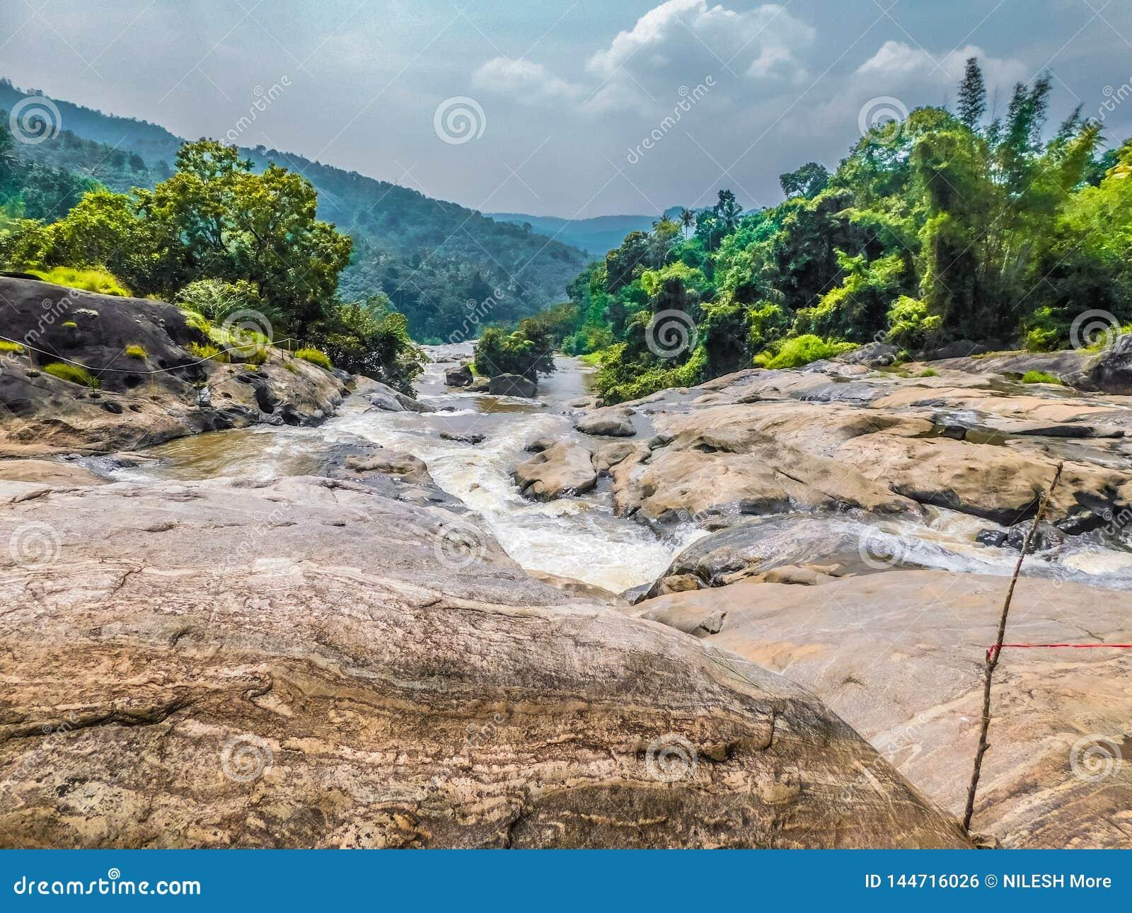L eau traversant la rivière