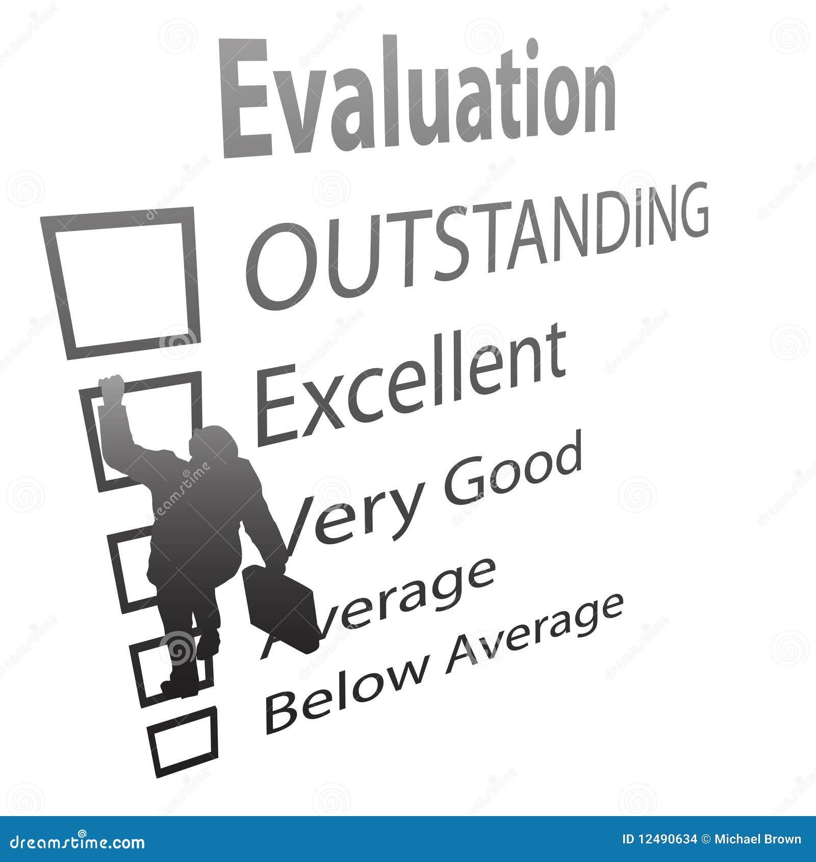 L employé monte vers le haut la forme d amélioration d évaluation