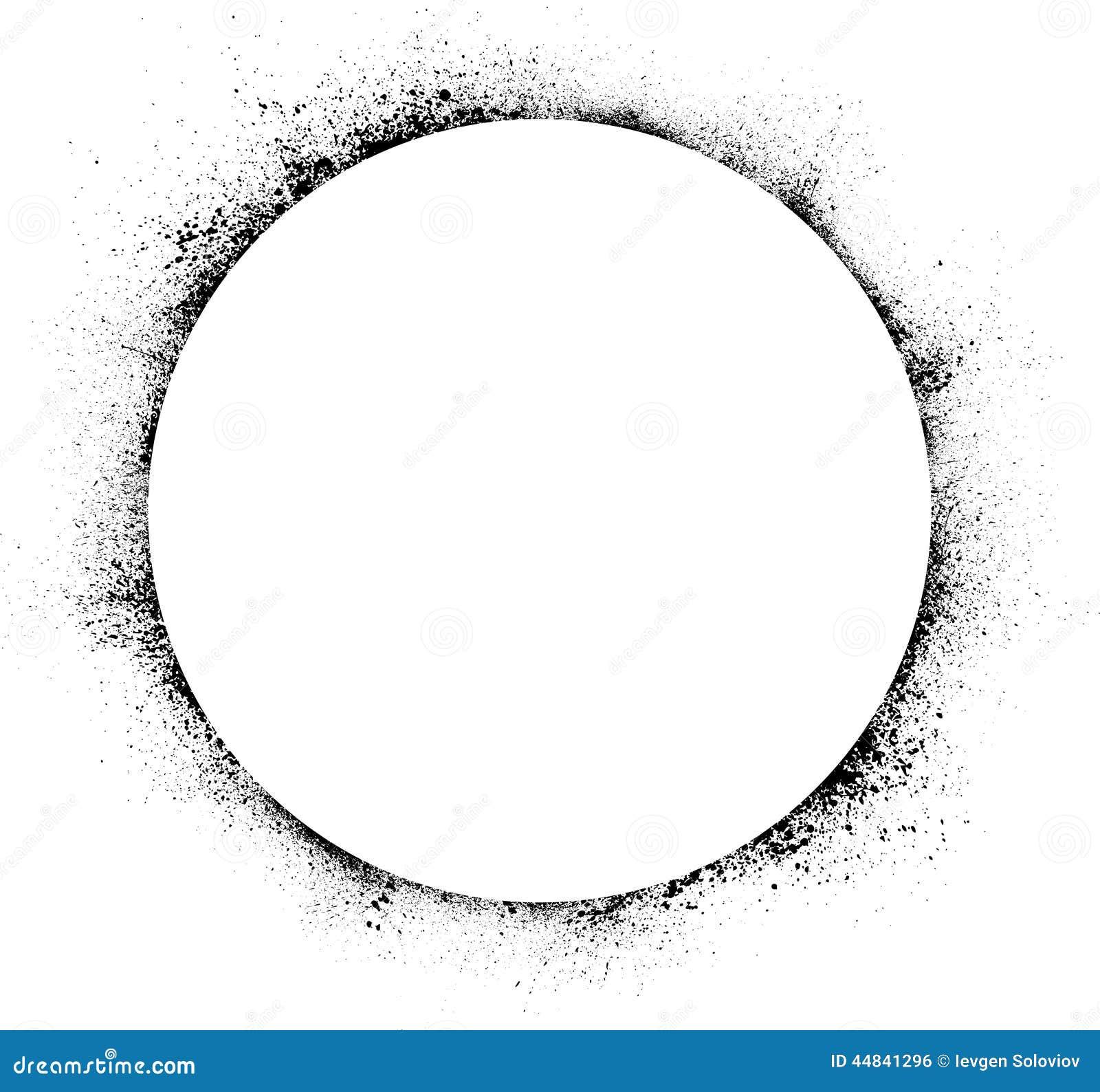 L Encre De Cercle 233 Ponge Le Fond Illustration De Vecteur