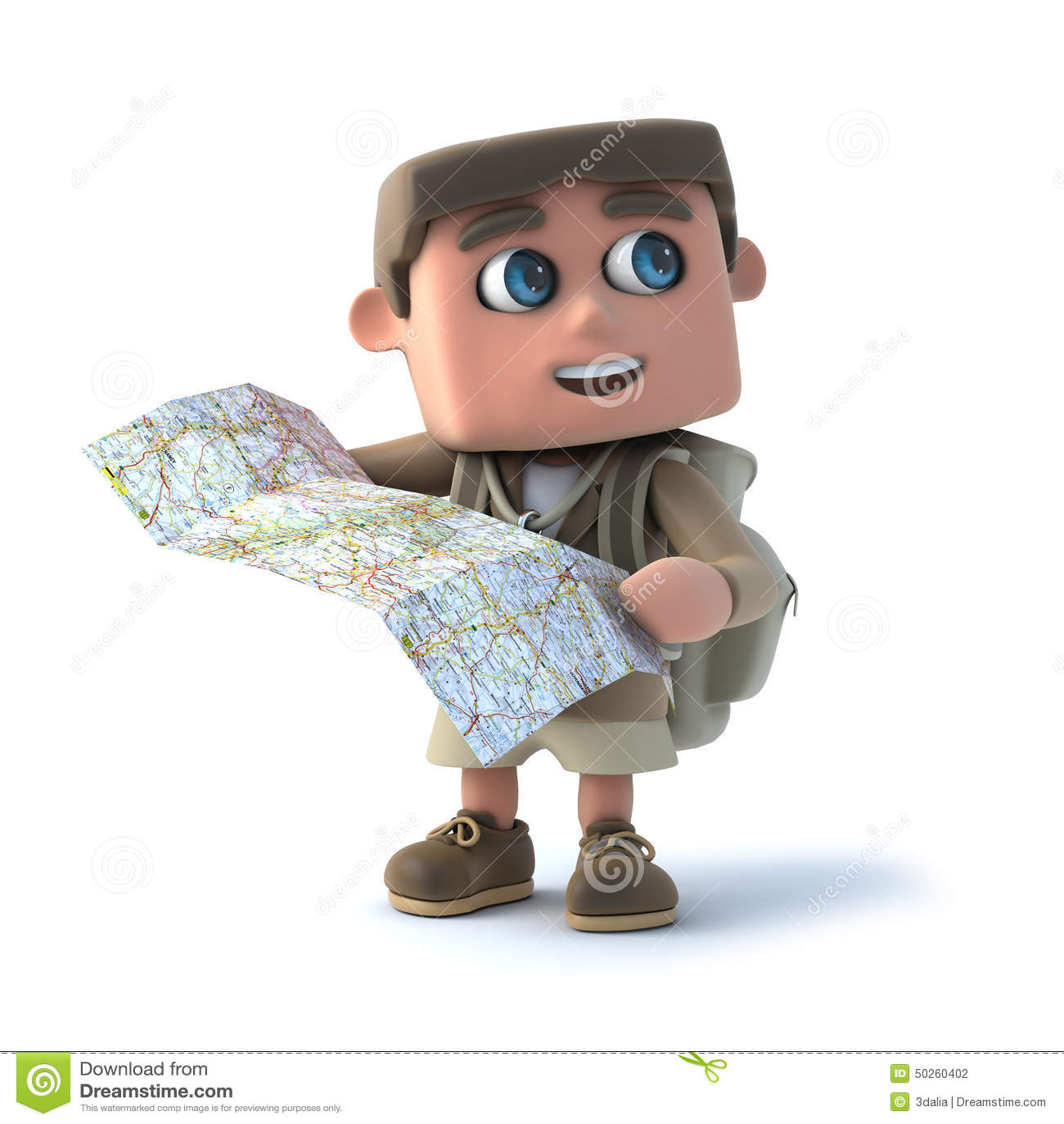 L enfant de l explorateur 3d lit une carte