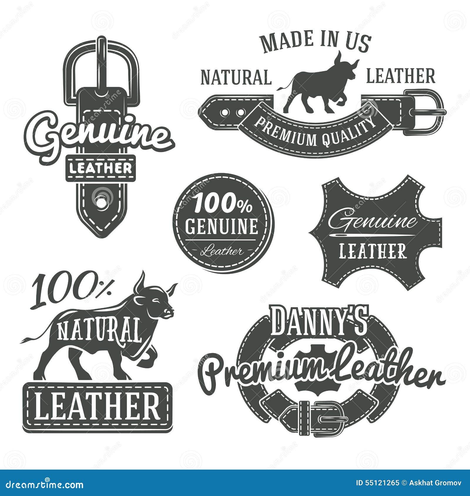 L ensemble de logo de ceinture de vintage de vecteur conçoit, rétro