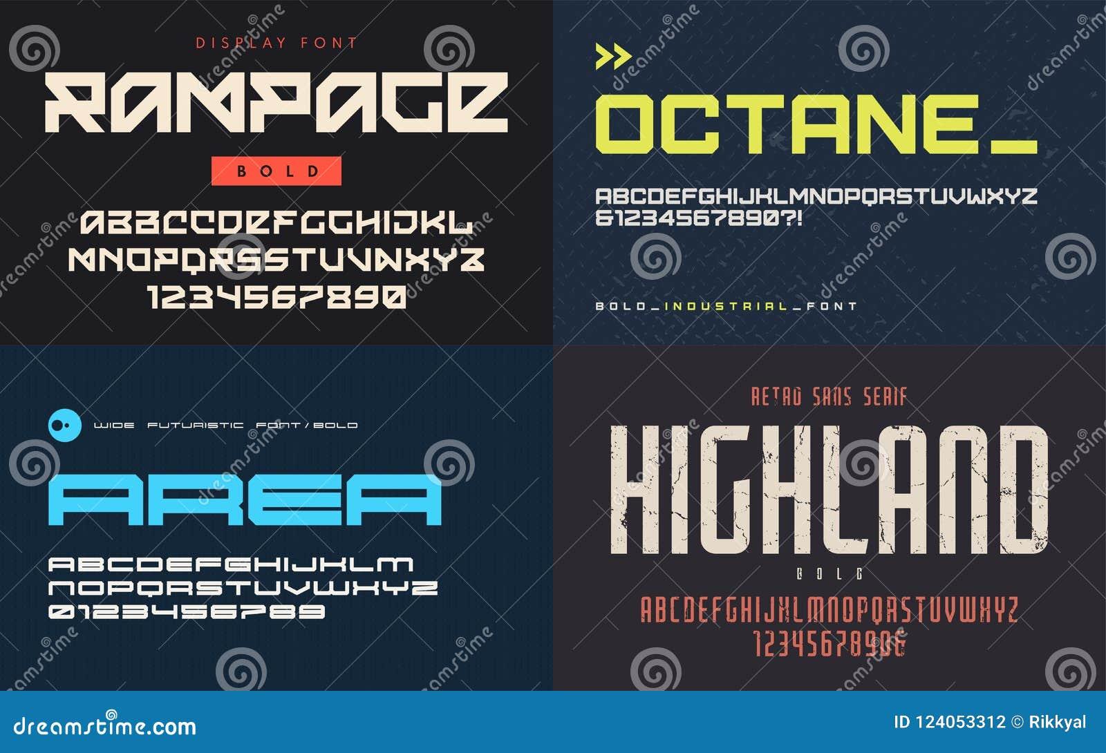 L ensemble de polices d affichage, oeil d un caractère, dirigent les lettres majuscules et le NU