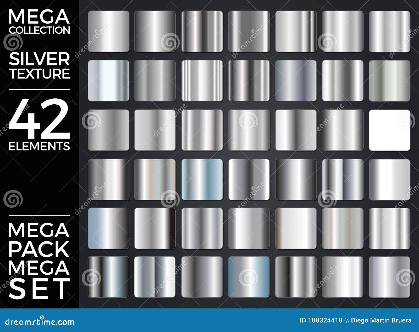 L ensemble de vecteur de gradients argentés, collection argentée de places, donne au groupe une consistance rugueuse