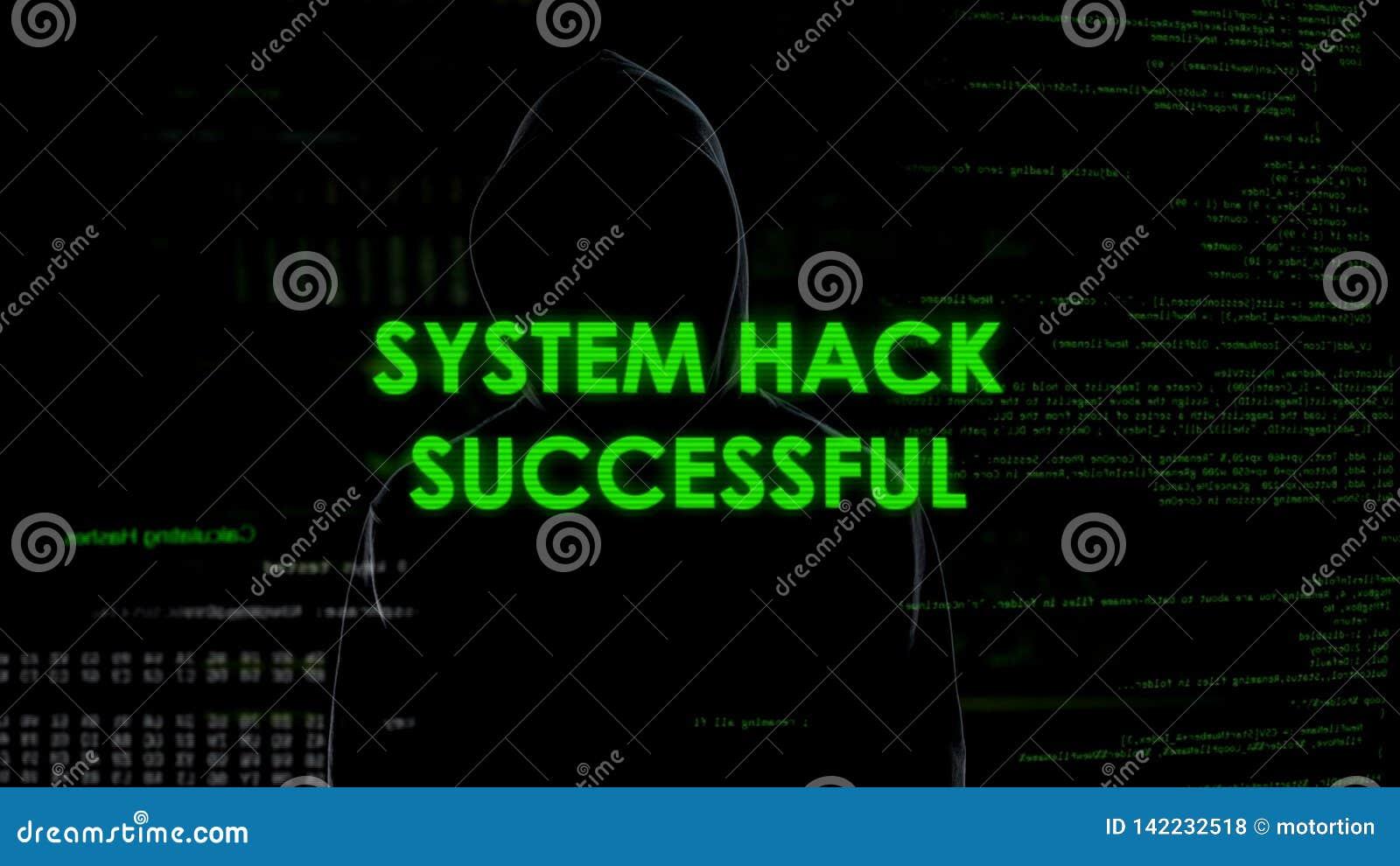 L entaille de système réussie, code cassant l opération, programmeur a fendu le mot de passe