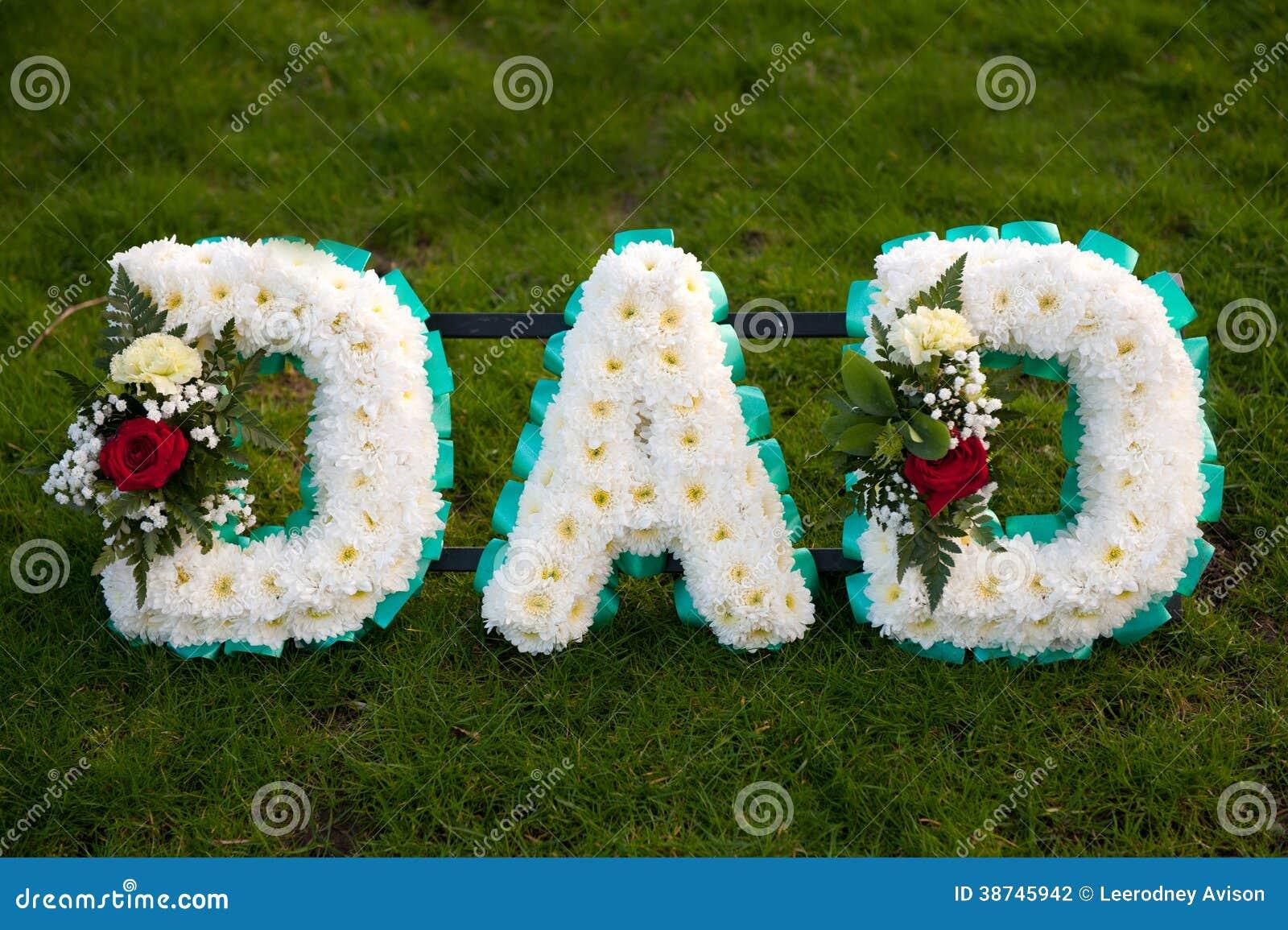L enterrement fleurit le papa d hommage