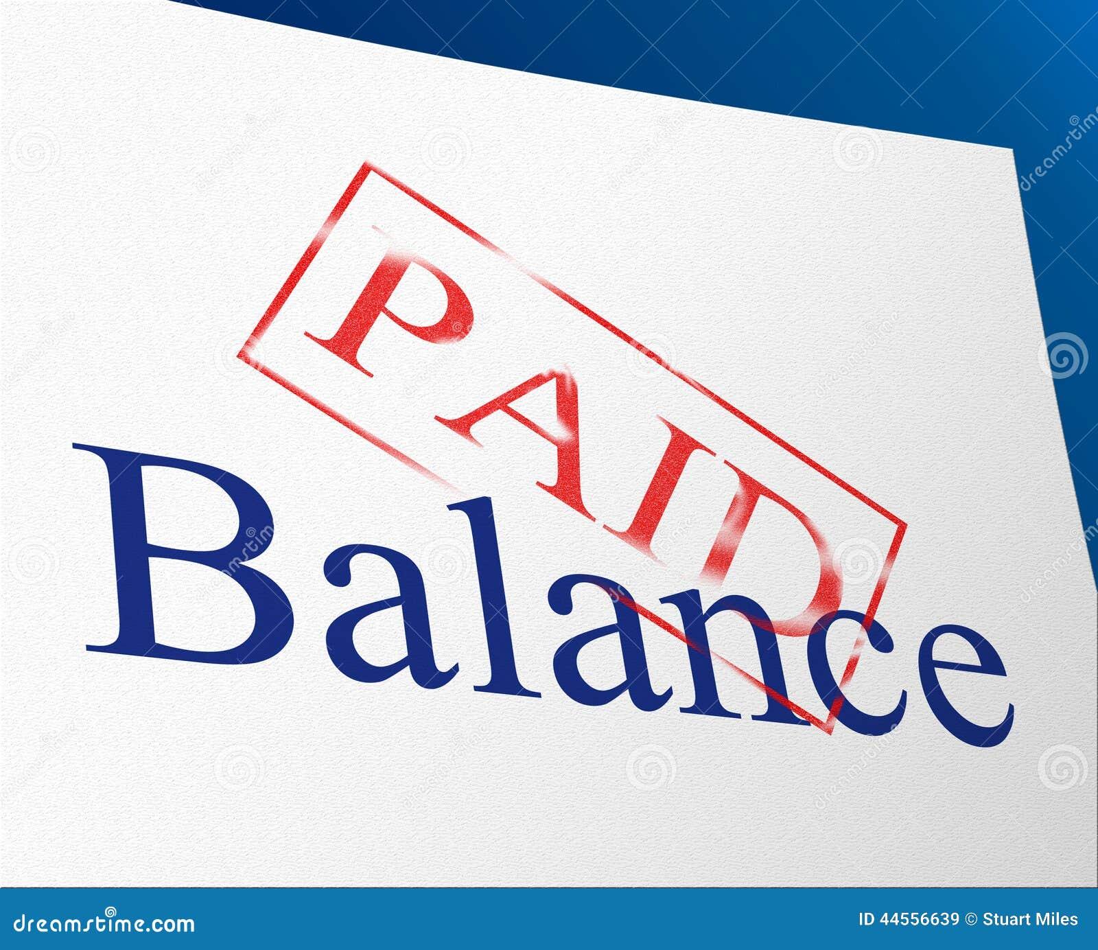 L equilibrio pagato indica le fatture e l uguaglianza di conferma