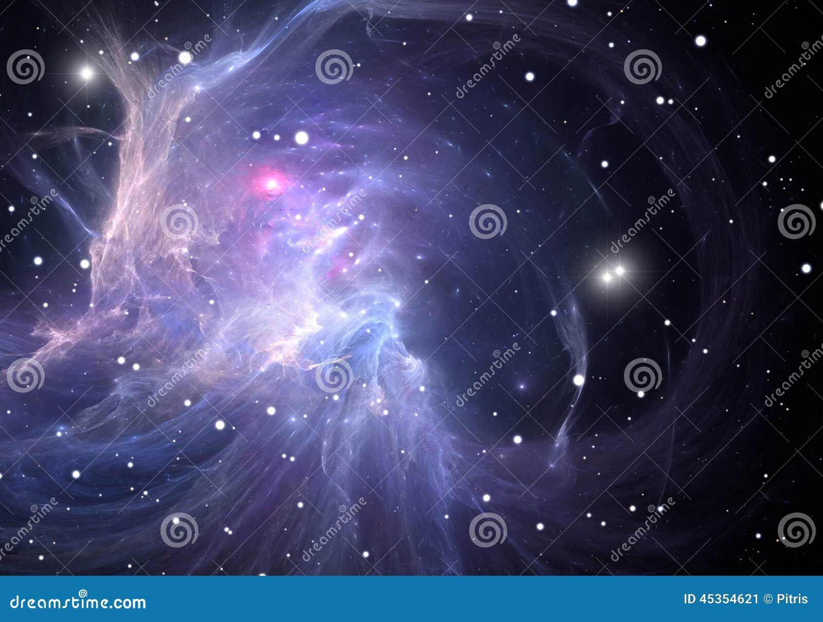 Download L'espace bleu de nébuleuse illustration stock. Illustration du énergie - 45354621