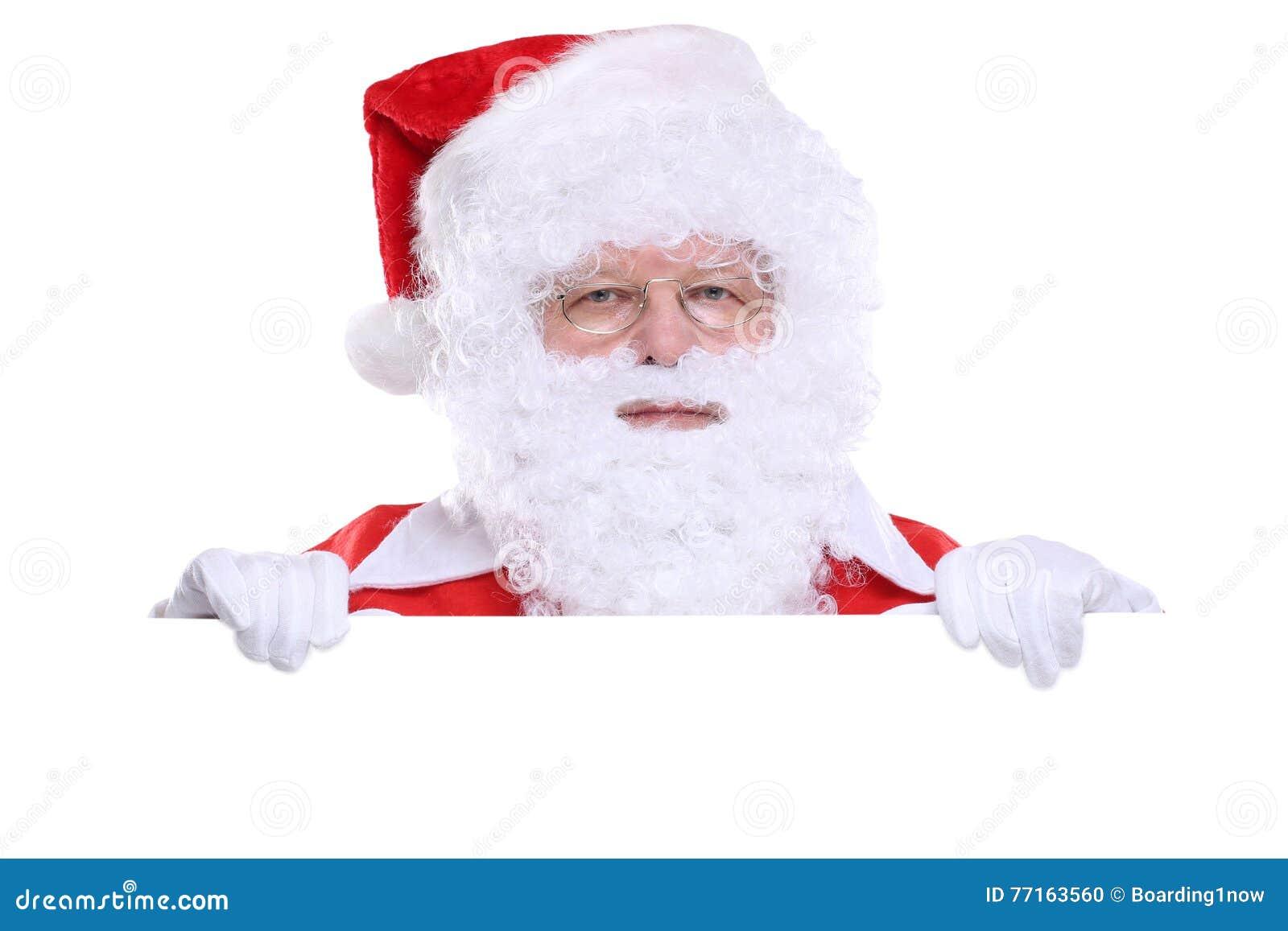 L espace de copie de copyspace de bannière de Santa Claus Christmas
