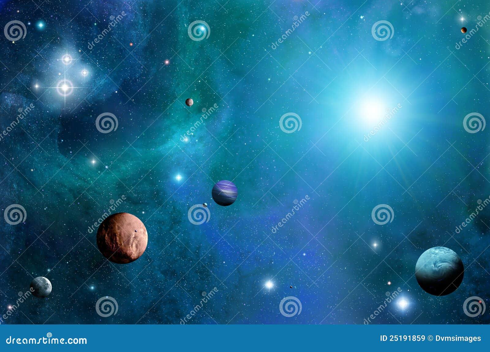 L espace et planètes