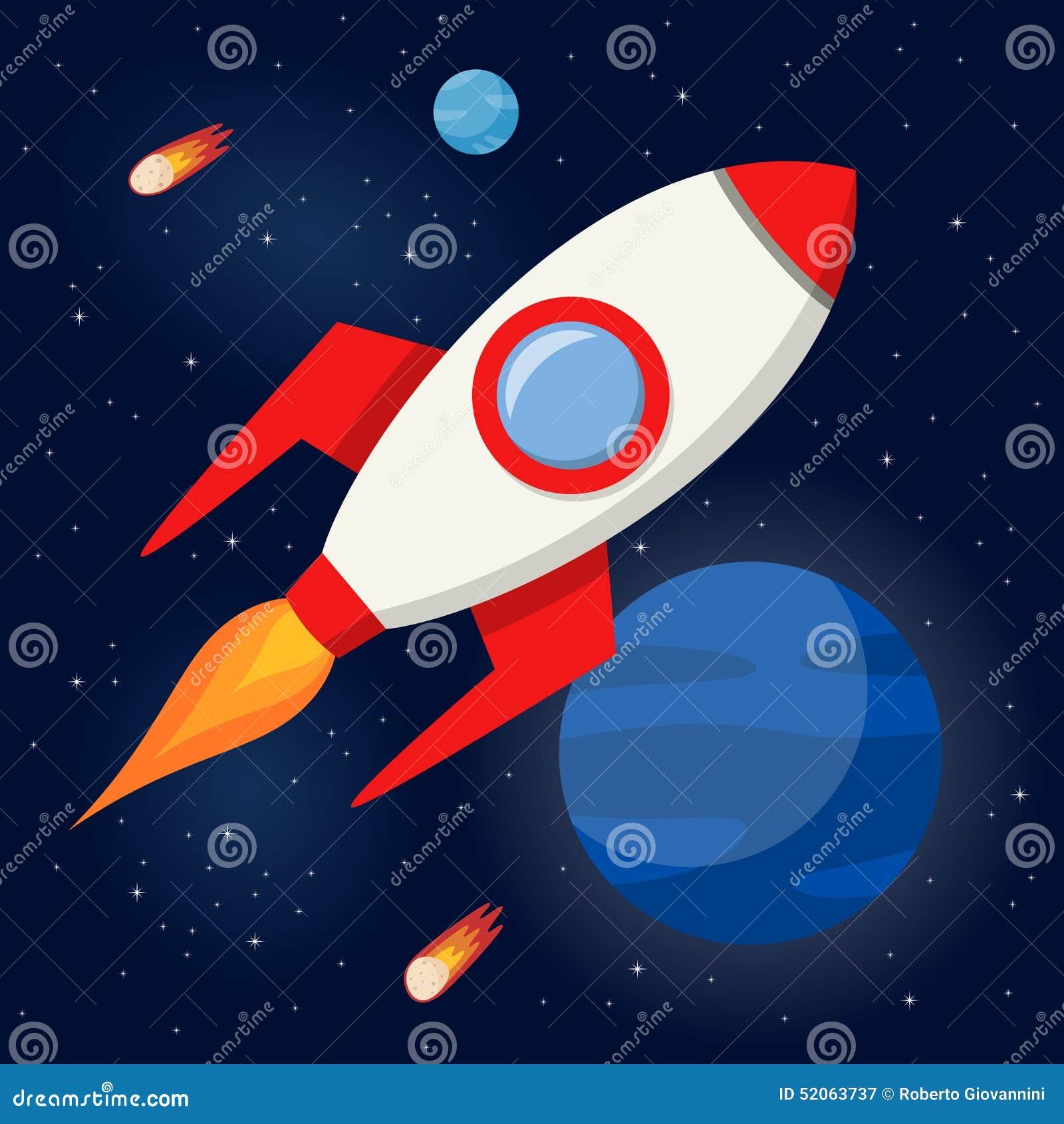L espace Rocket Flying dans l espace extra-atmosphérique